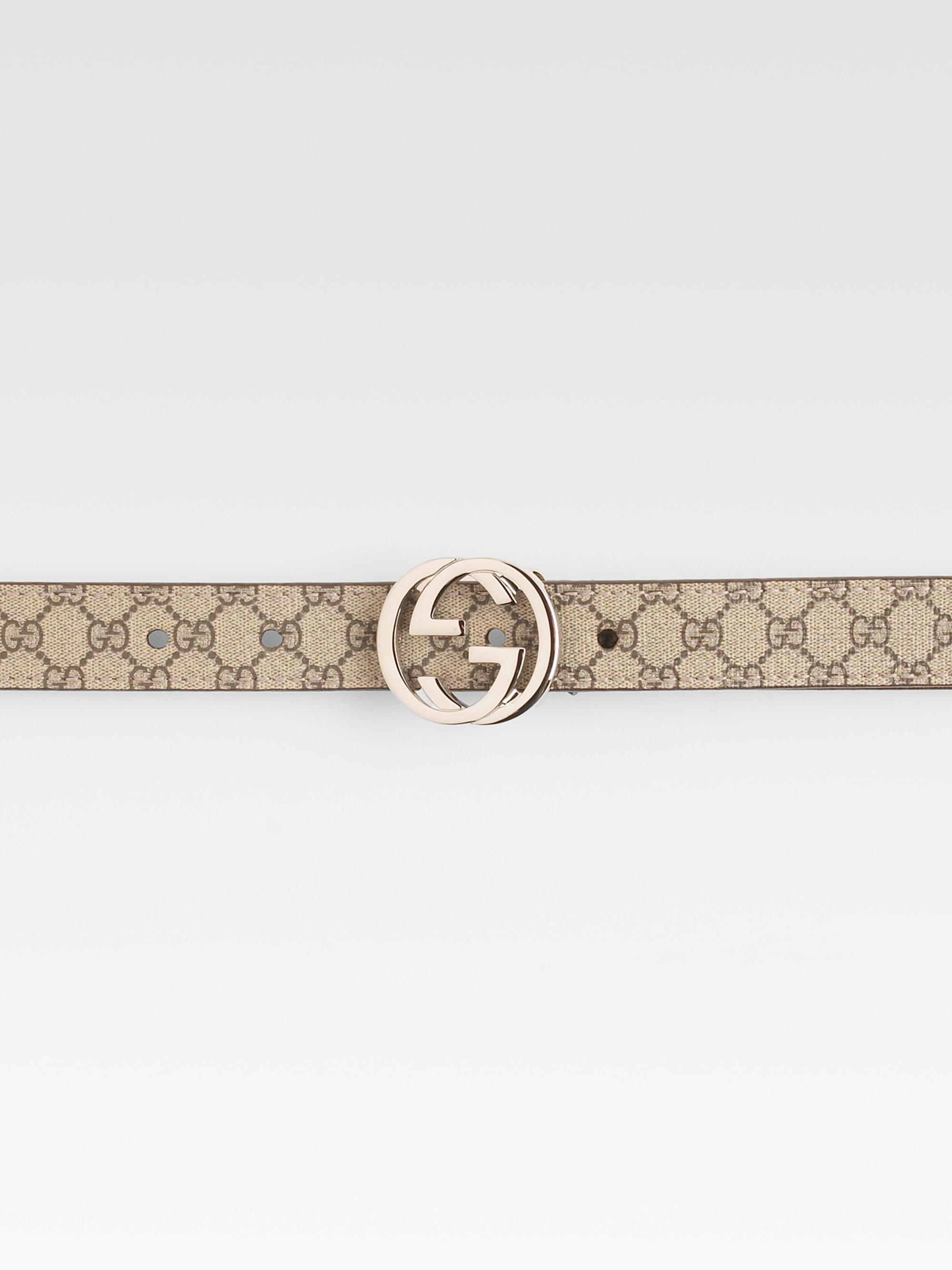 fbb02600a9f Lyst - Gucci Kids Interlocking G Buckle Belt in Natural for Men