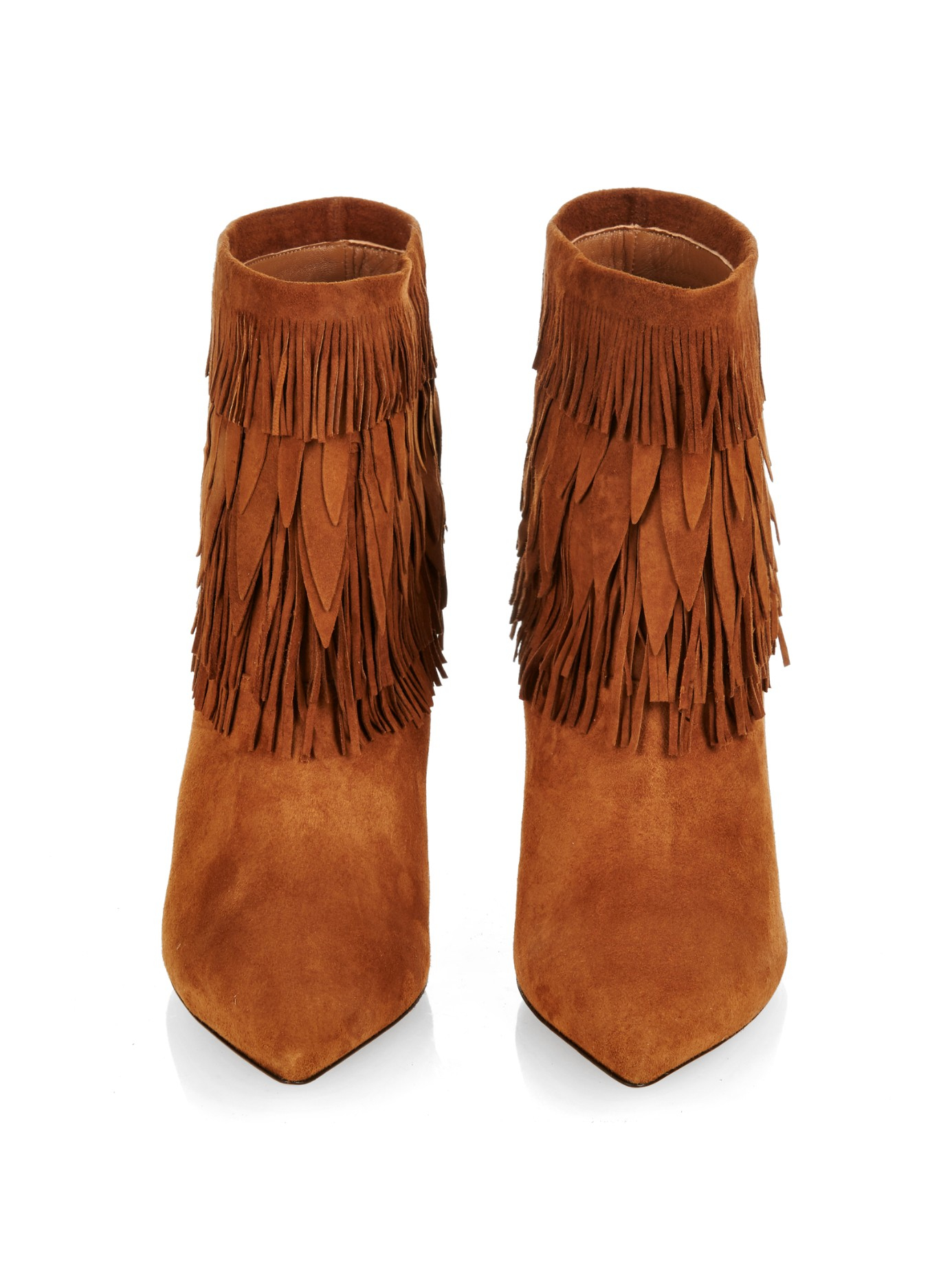 sale sale uk lace up in Sasha Layered-Fringe Ankle Boots