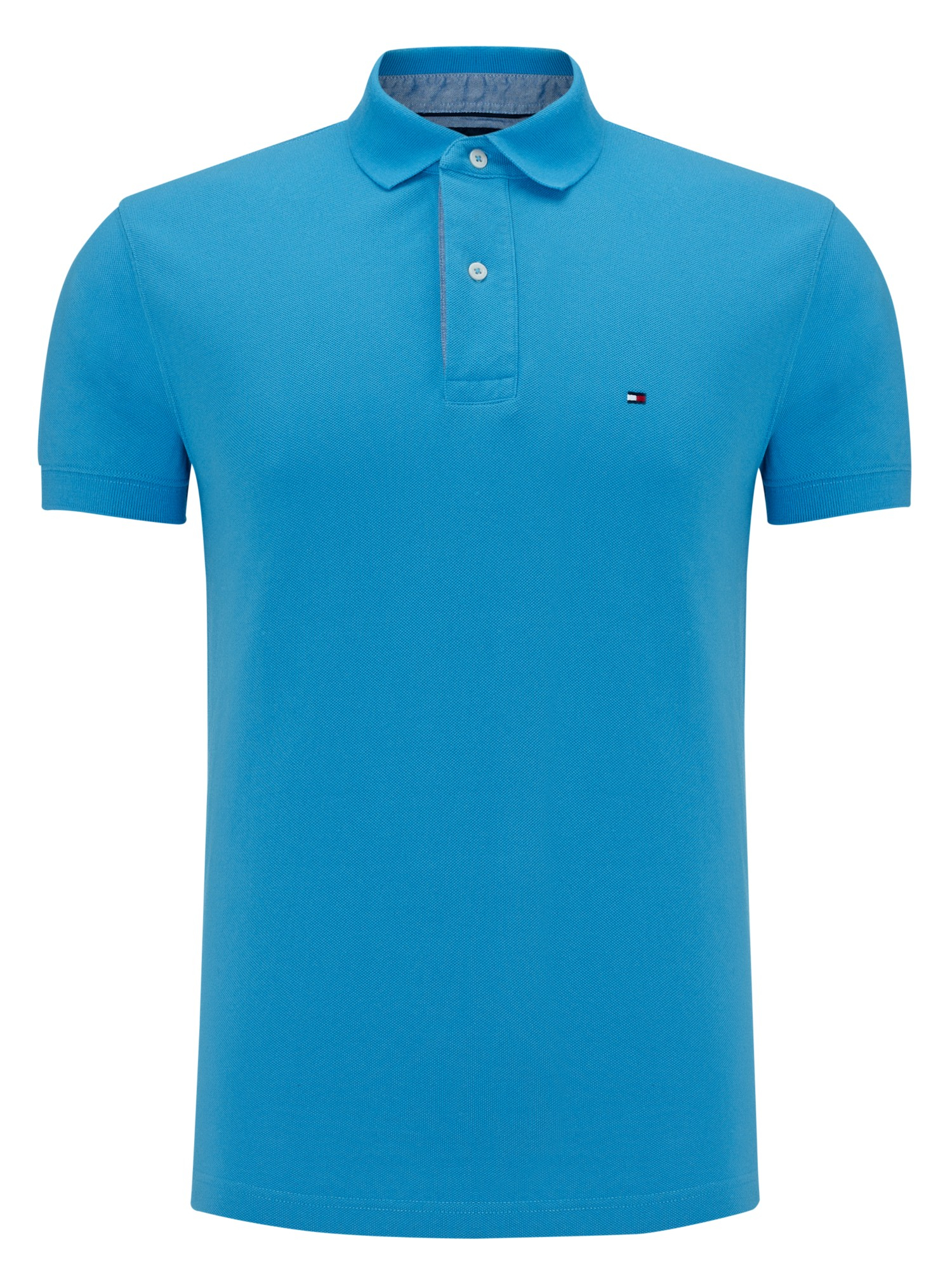 Lyst tommy hilfiger 2 button polo shirt in blue for men for 3 button polo shirts