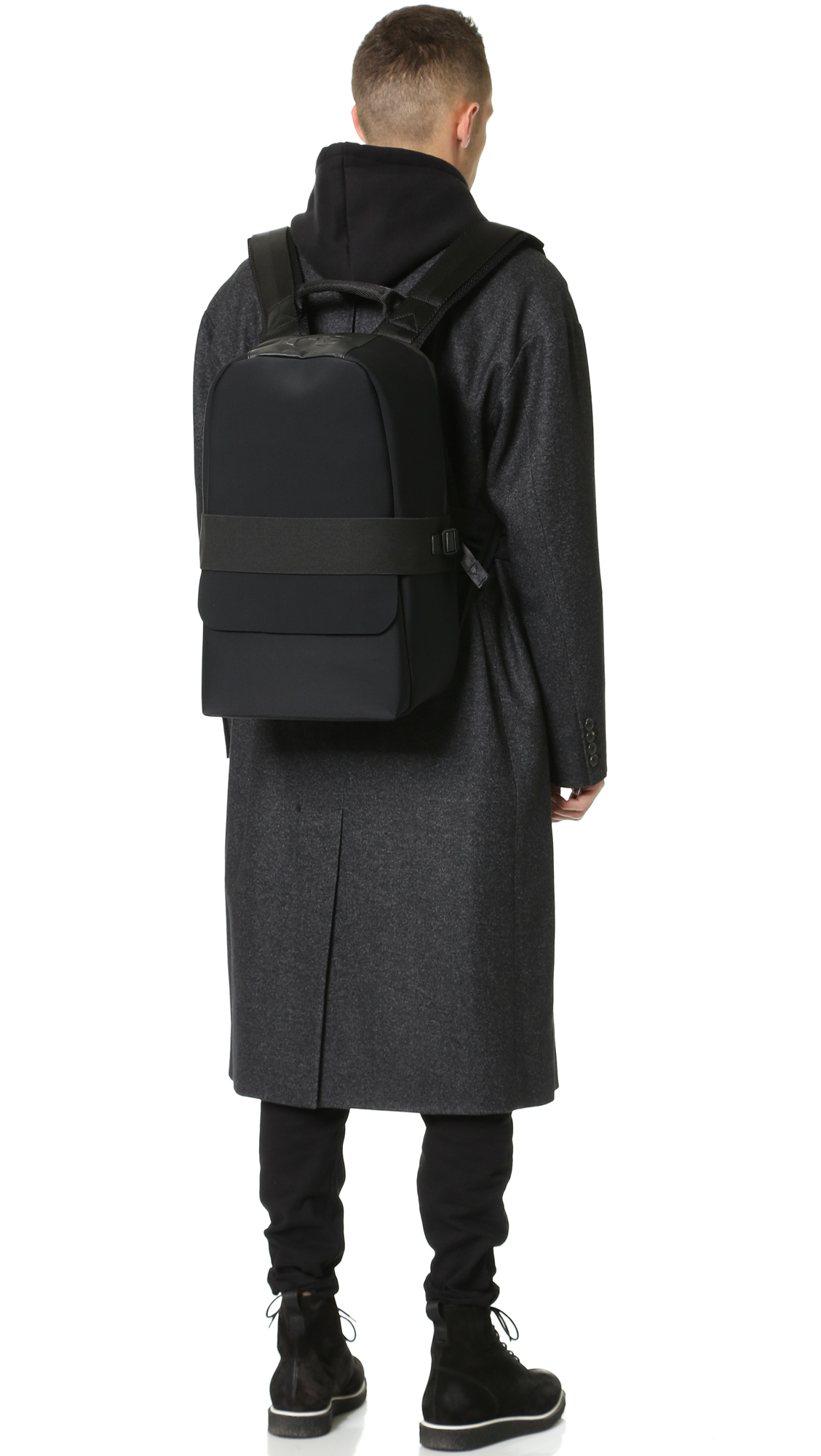 ... timeless design b4d8f ee124 Lyst - Y-3 Day Backpack in Black for Men ... 9f49a52bdb