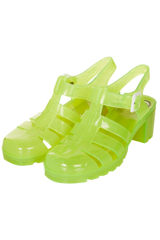 04bac2d9543 TOPSHOP Nina Fluro Jelly Sandals Yellow