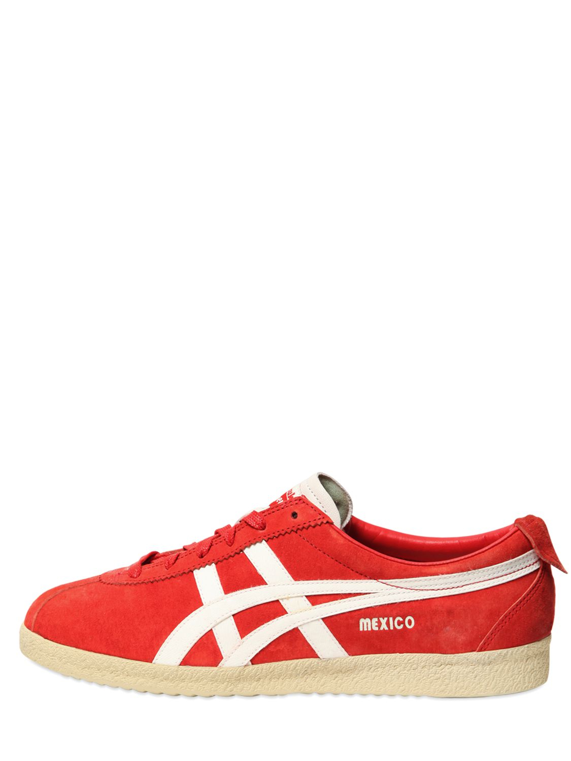 onitsuka tiger mexico delegation suede sneakers in red lyst. Black Bedroom Furniture Sets. Home Design Ideas