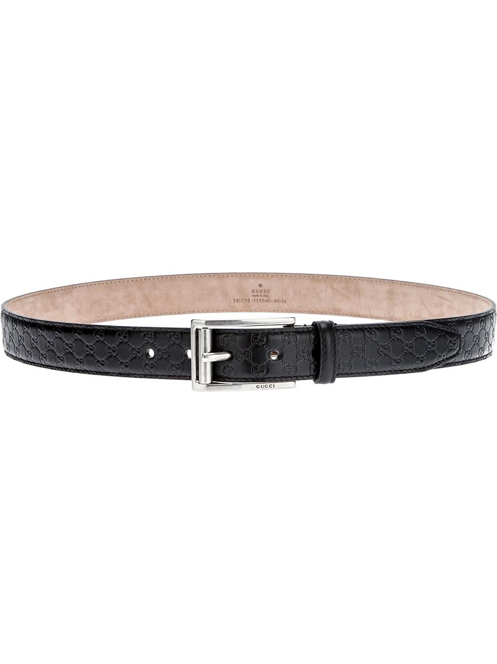 9533dd38baa ... italy lyst gucci monogram embossed belt in black for men 3db30 cbe8a