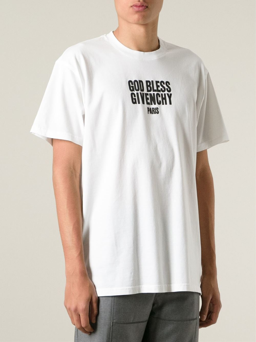 givenchy god bless cotton t shirt in white for men lyst. Black Bedroom Furniture Sets. Home Design Ideas