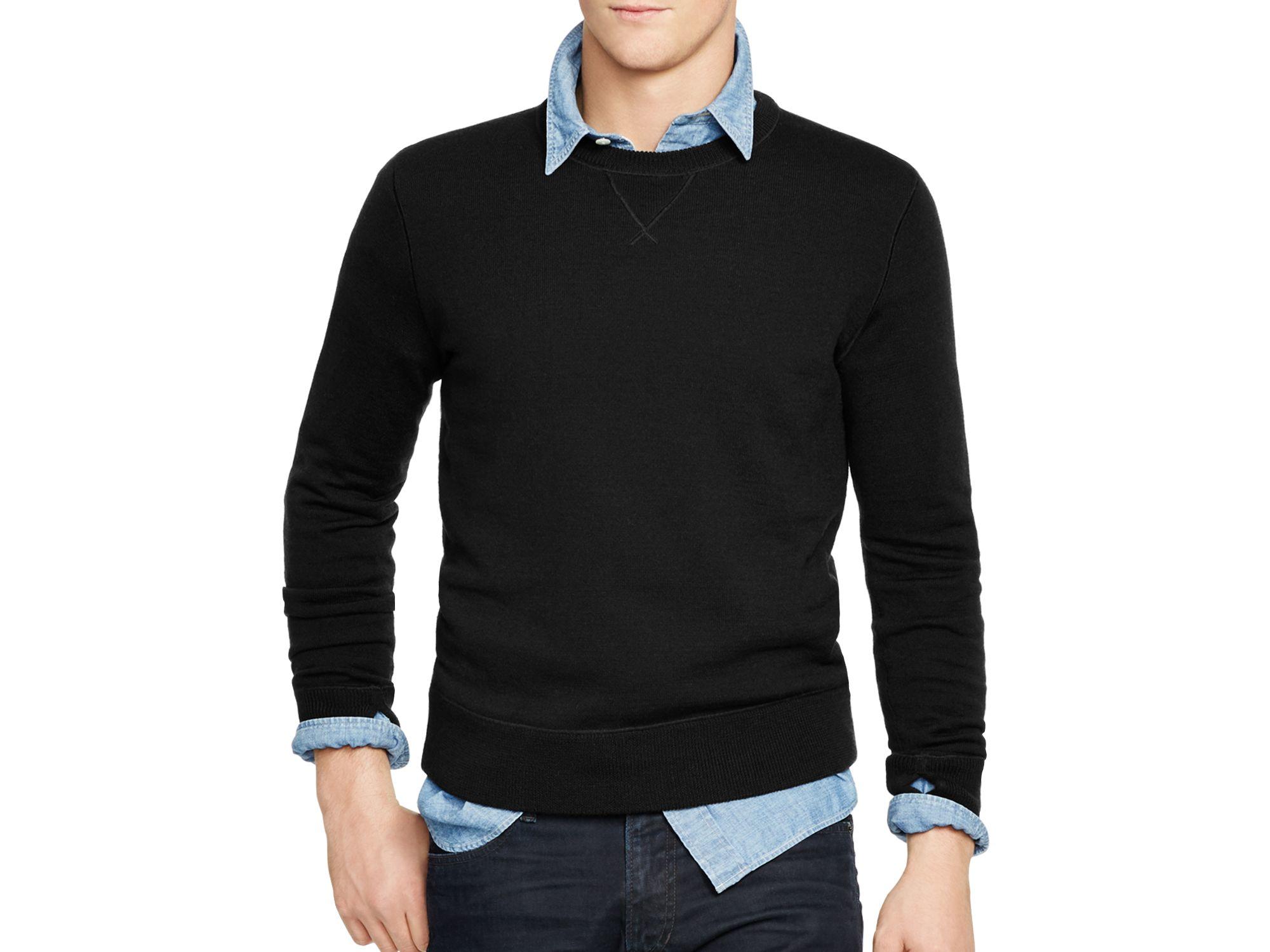 Pink pony Polo Merino Crewneck Sweatshirt in Black for Men   Lyst