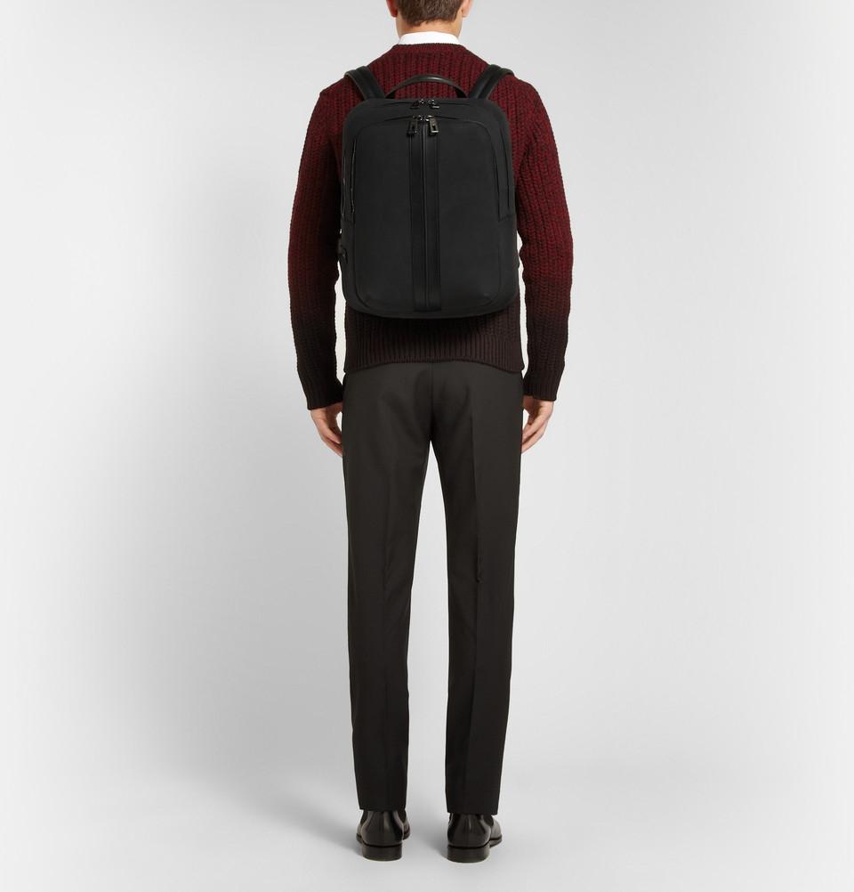 Tod's Nubuck Leather Backpack in Black for Men