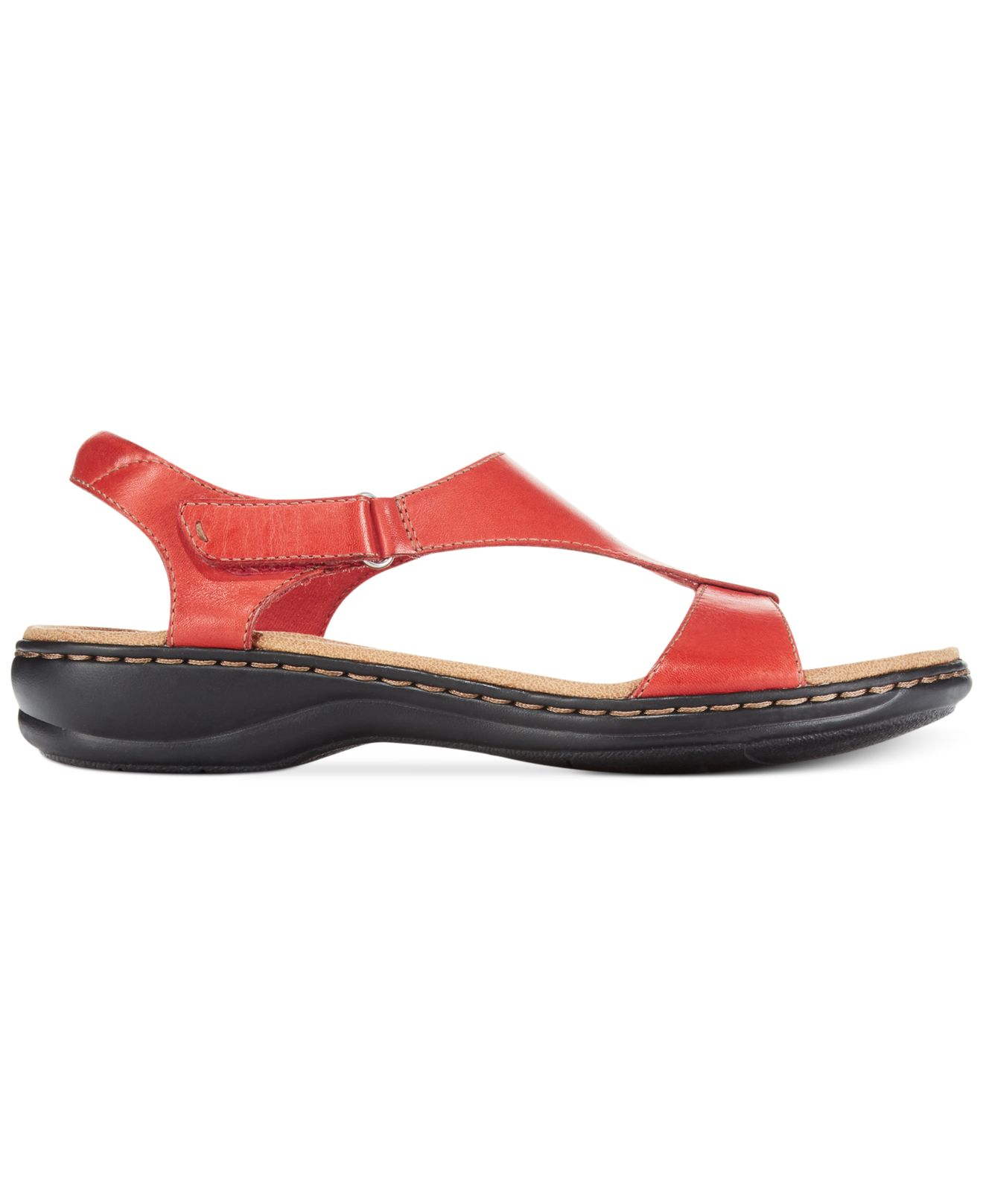 Clarks Collection Women S Leisa Foliage Flat Sandals In