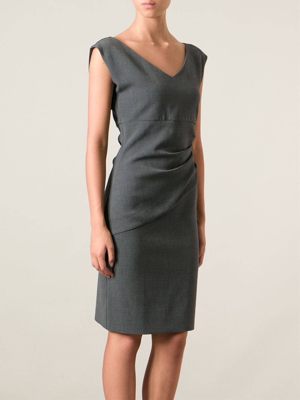 diane von furstenberg 39 bevin 39 fitted dress in gray grey lyst. Black Bedroom Furniture Sets. Home Design Ideas