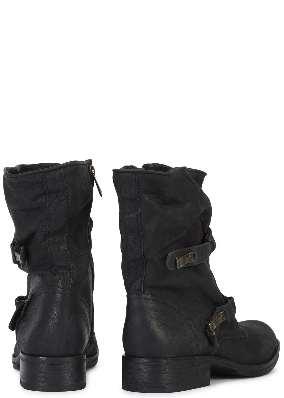 abf53feeb Sam Edelman Ridge Black Leather Boots in Black - Lyst