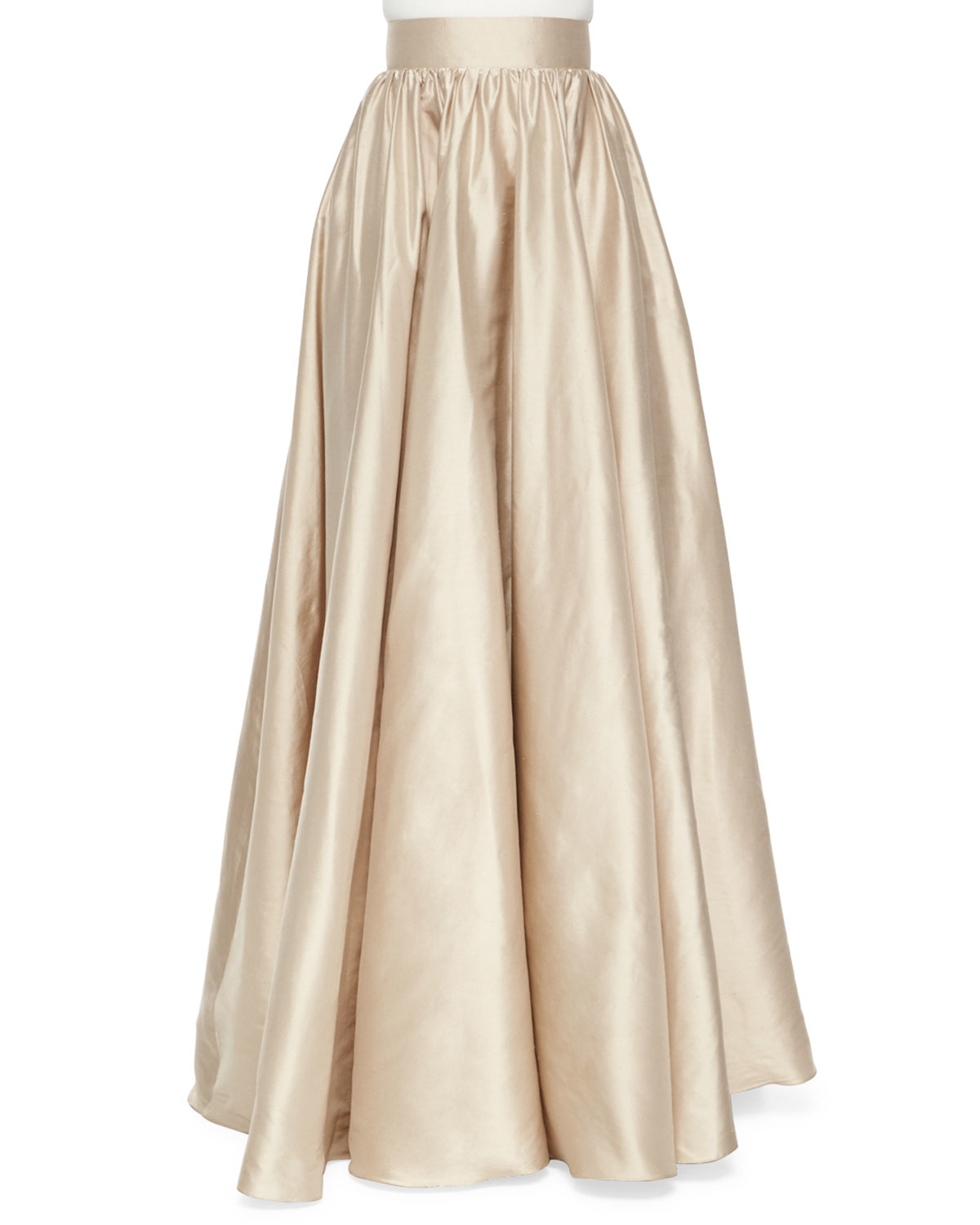 Jenny packham Full Satin Ball Skirt in Natural | Lyst