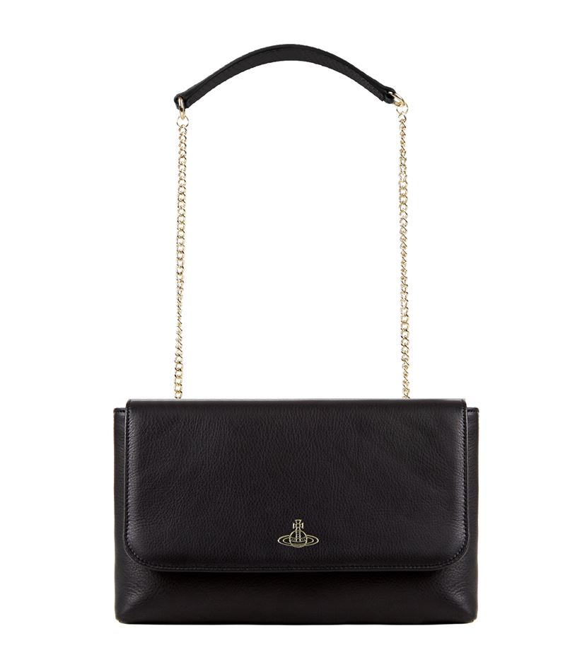 6c40f5a031 Vivienne Westwood Spencer Flap Chain Cross Body Bag in Black - Lyst
