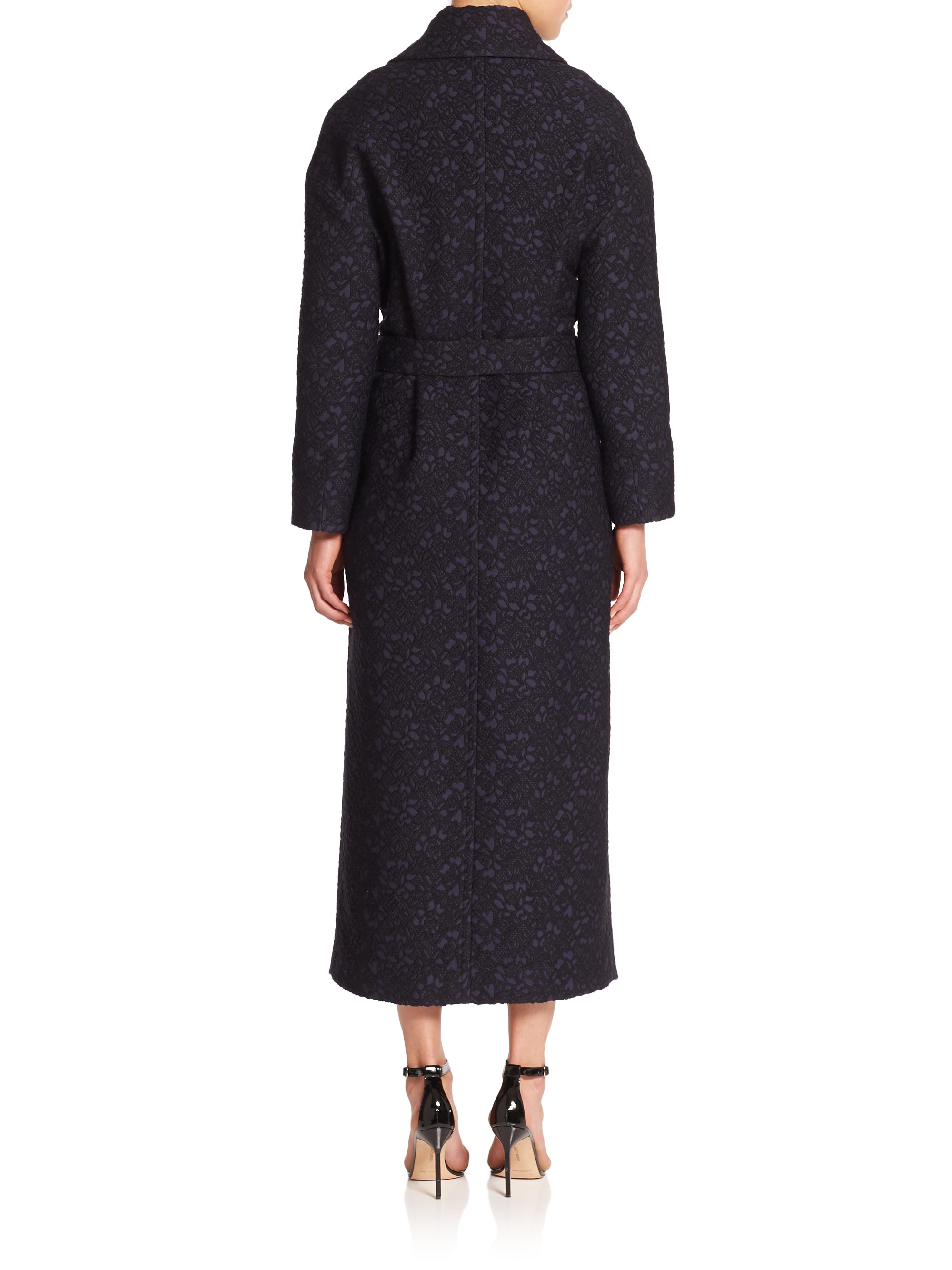 Mother Of Pearl Blair Floral Wrap Coat In Blue Lyst