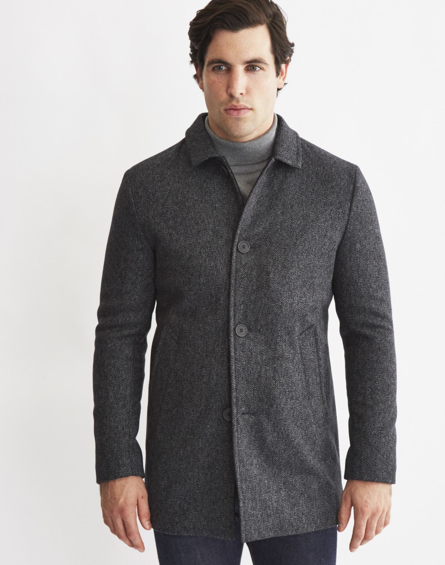 Selected Mash Coat in Gray for Men | Lyst