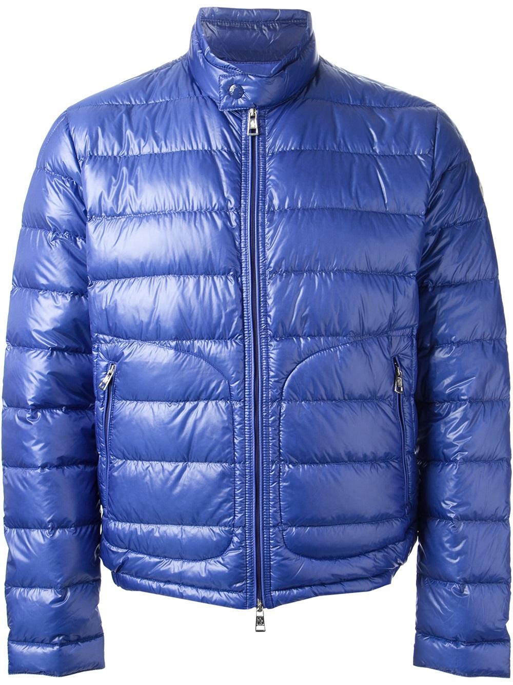 moncler blue jacket mens