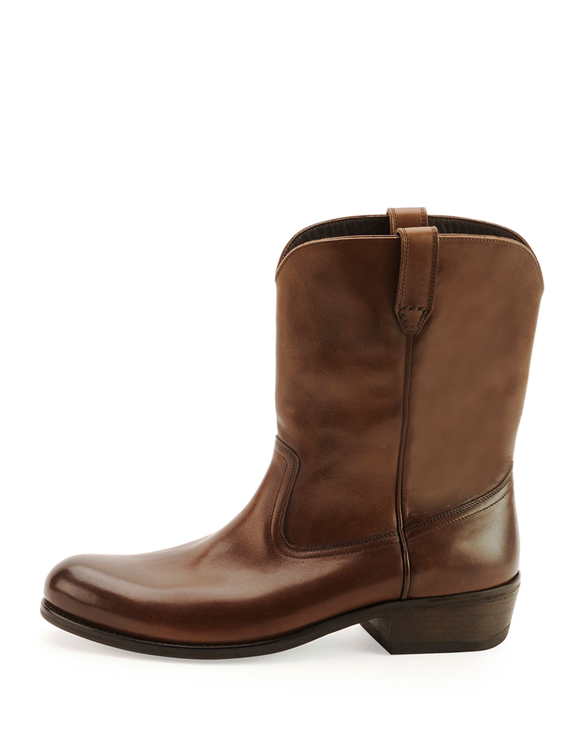 tom ford christopher leather cowboy boot in brown for