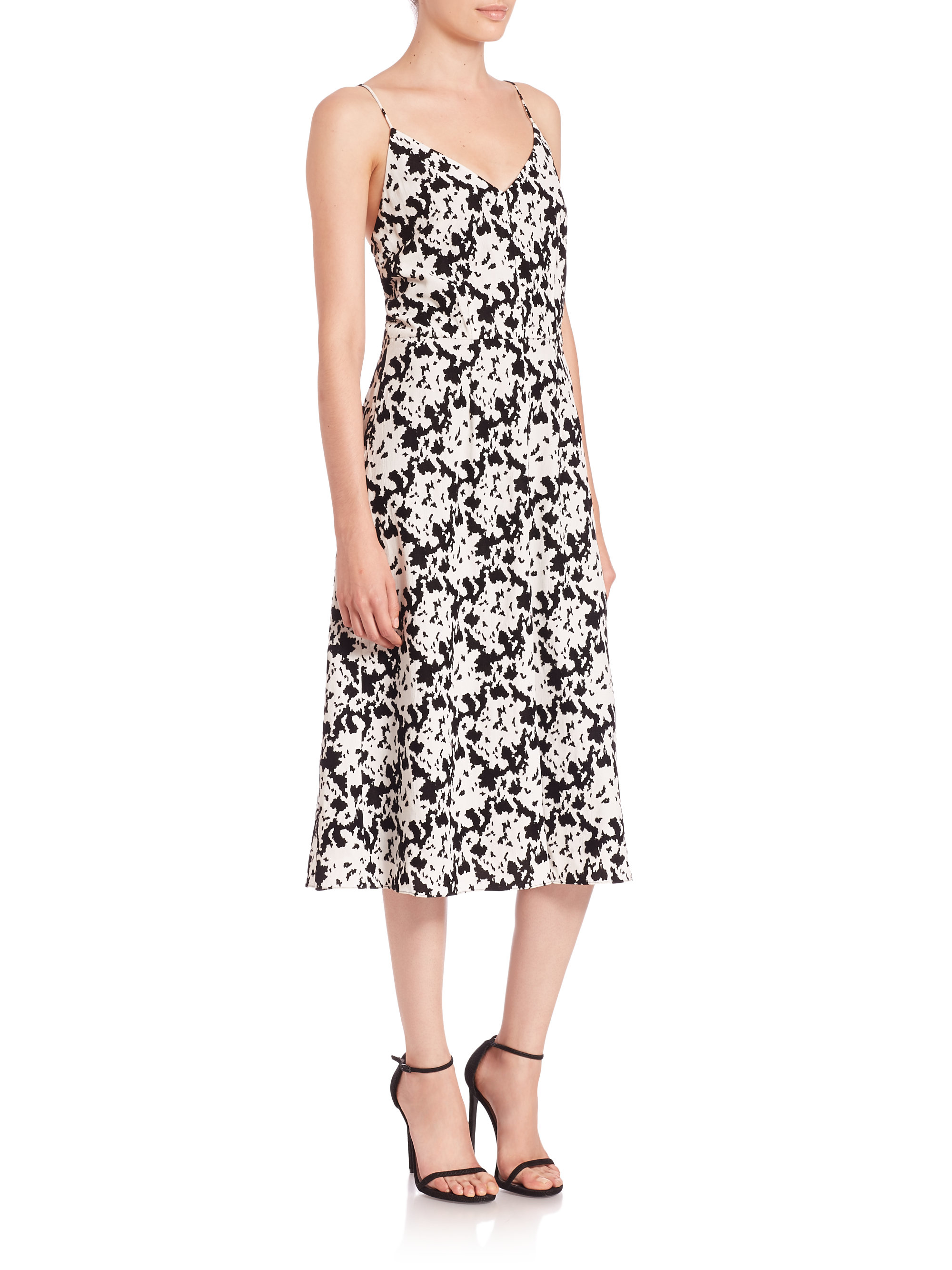Lyst Tanya Taylor Mara Printed Dress In Black