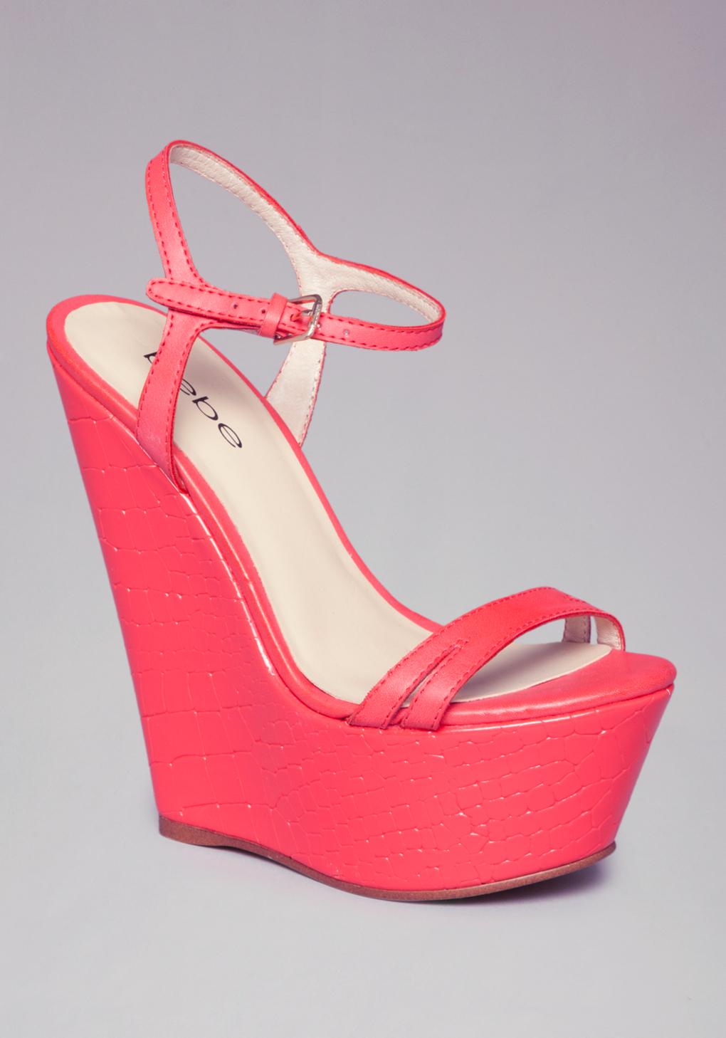 e390114700c Lyst - Bebe Annakay Wedges in Pink