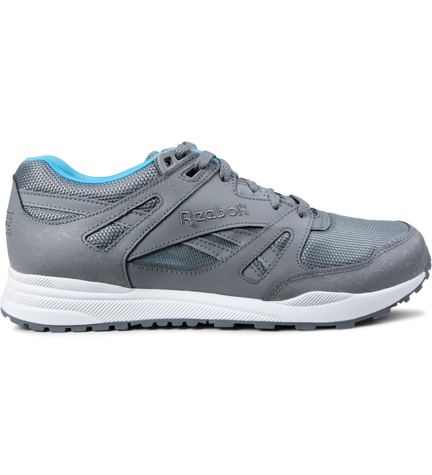 reebok grey white blue ventilator reflective shoes in gray