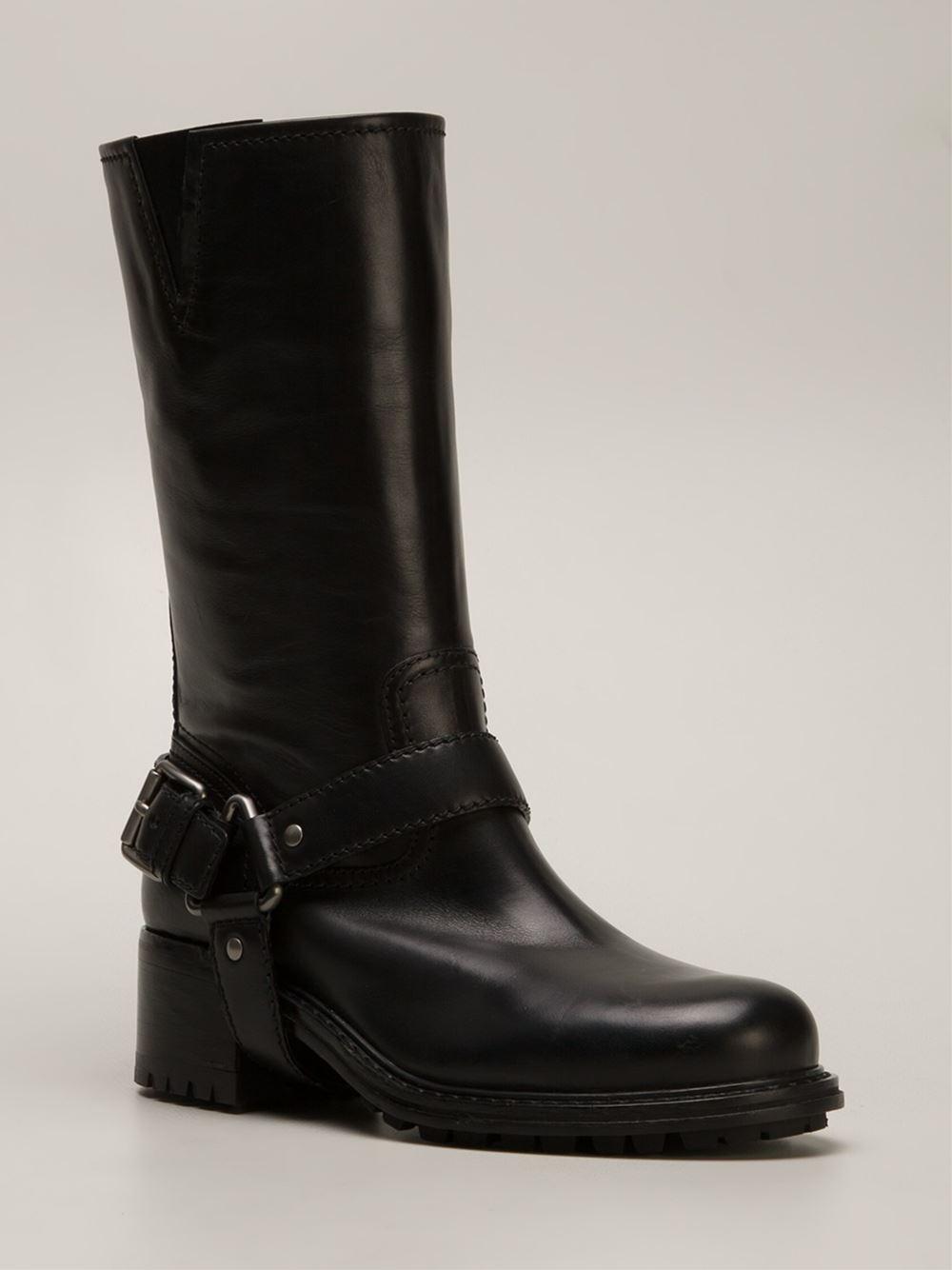 car shoe biker boots in black lyst