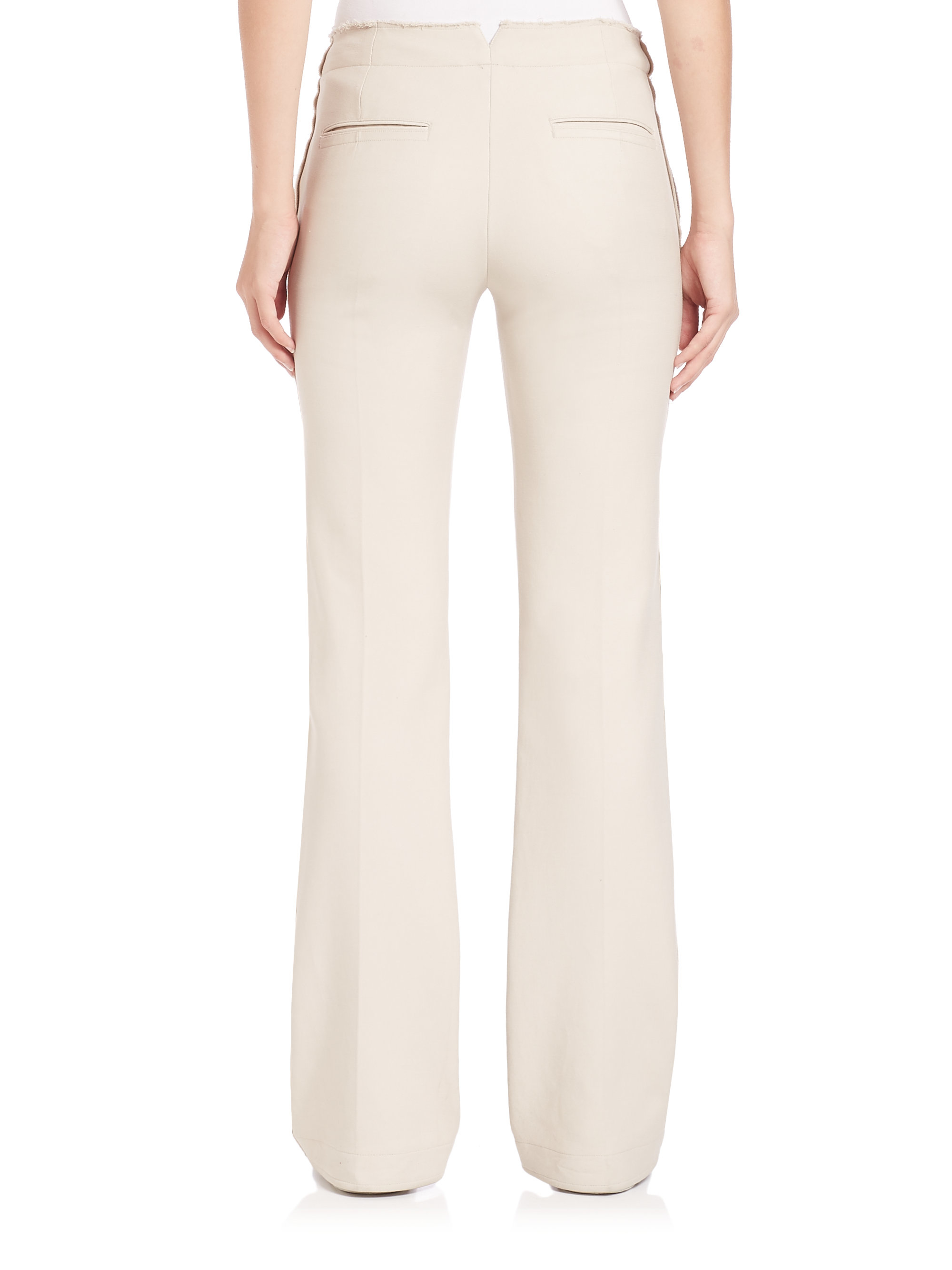 f3956d74 Helmut Lang Natural Raw-seam Flare Pants