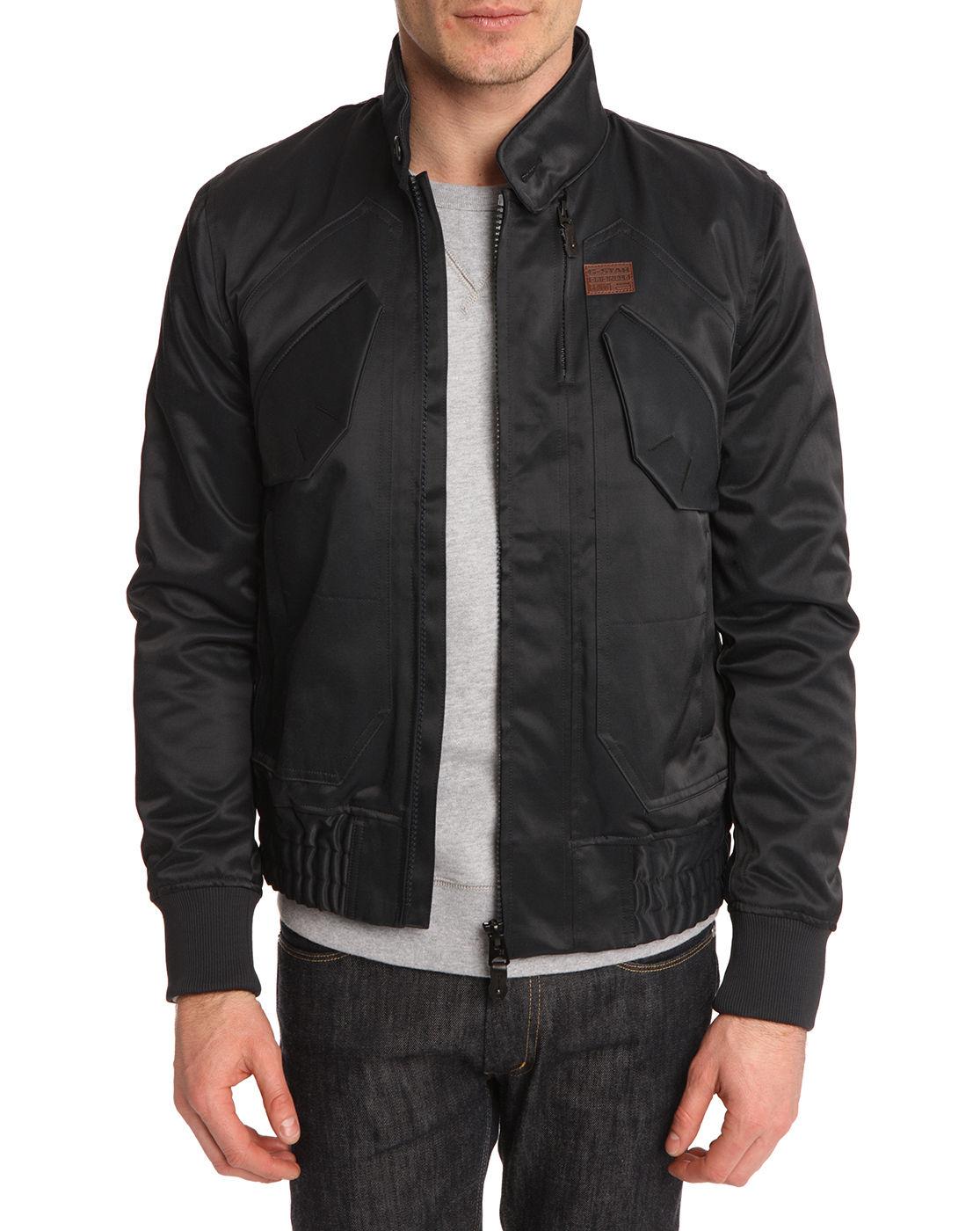g star raw altas black jacket in black for men lyst. Black Bedroom Furniture Sets. Home Design Ideas
