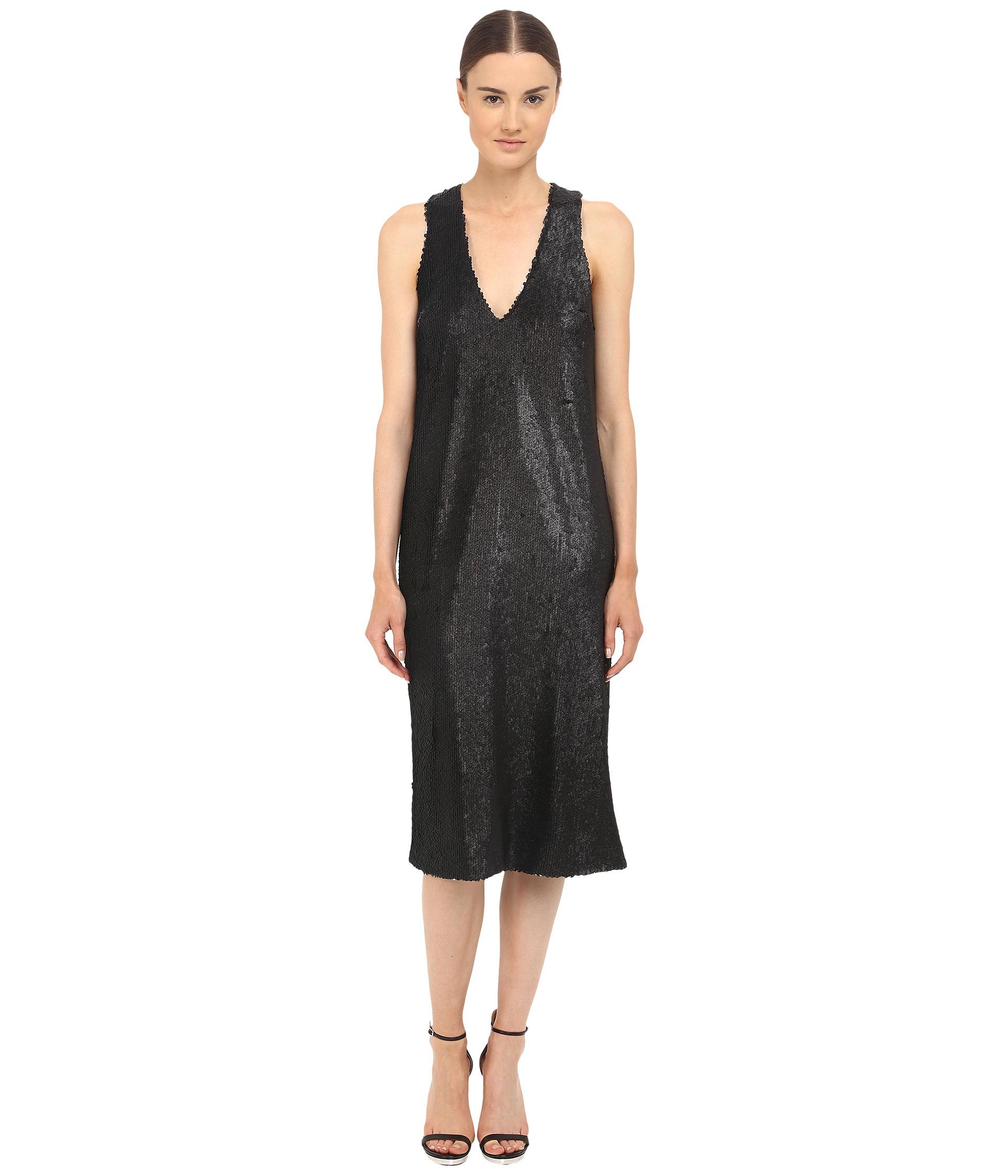 Prabal gurung Dusted Paillette Sleeveless Dress in Black | Lyst