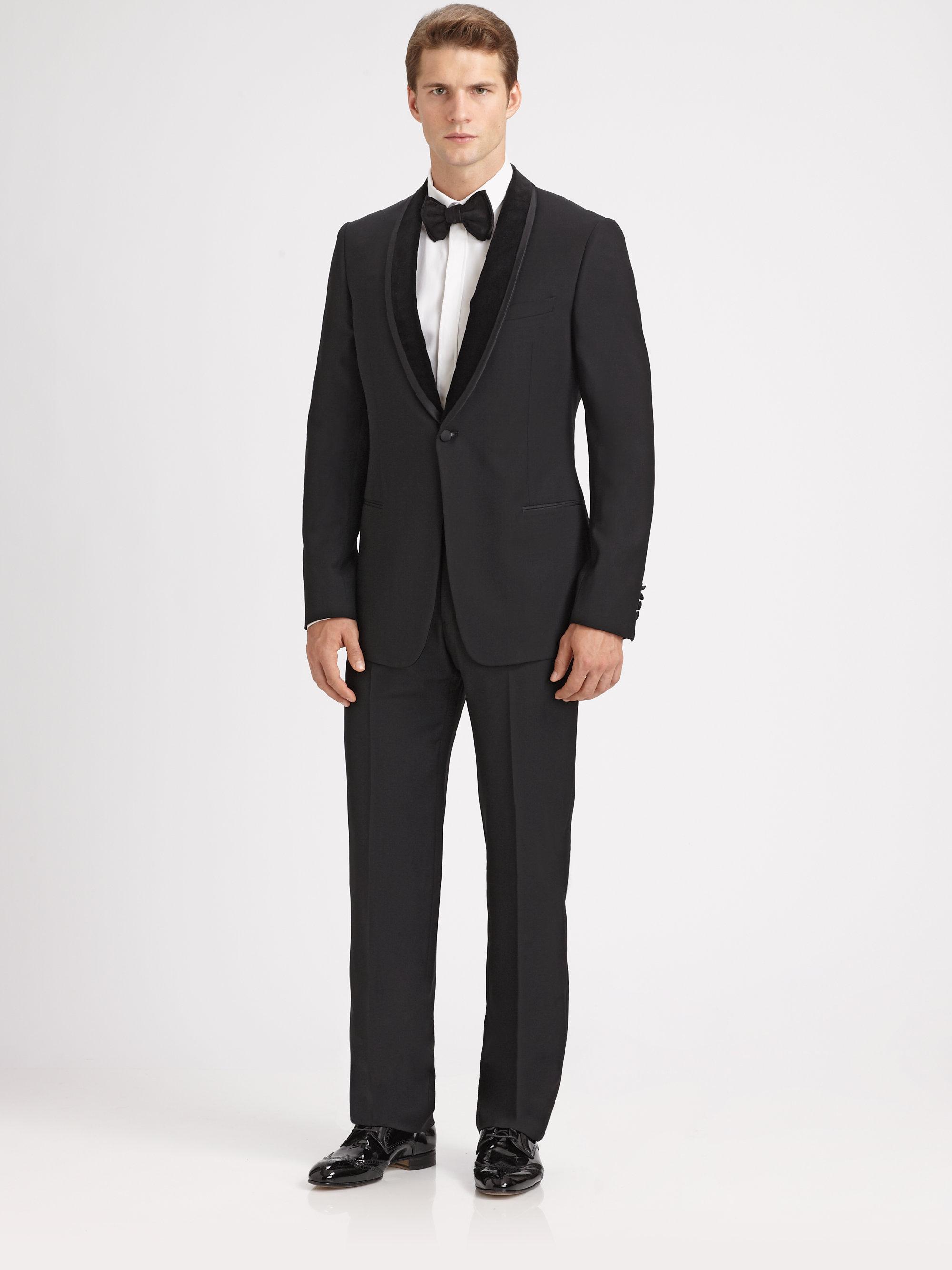 Armani Shawl Collar Tuxedo in Black for Men | Lyst Giorgio Armani Jacket