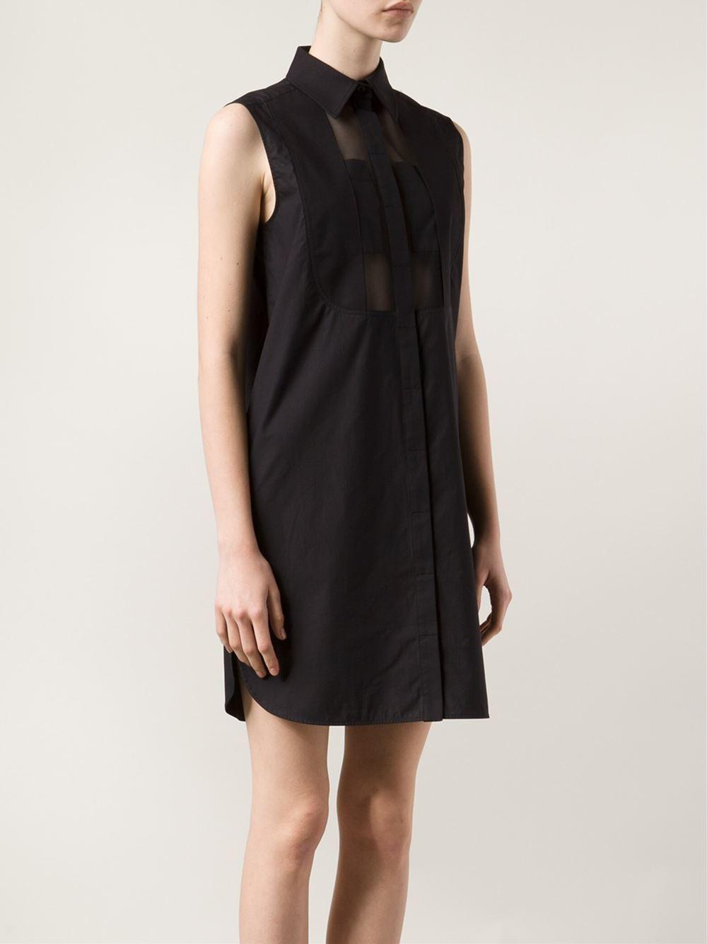 Turmec » sleeveless shirt dress black