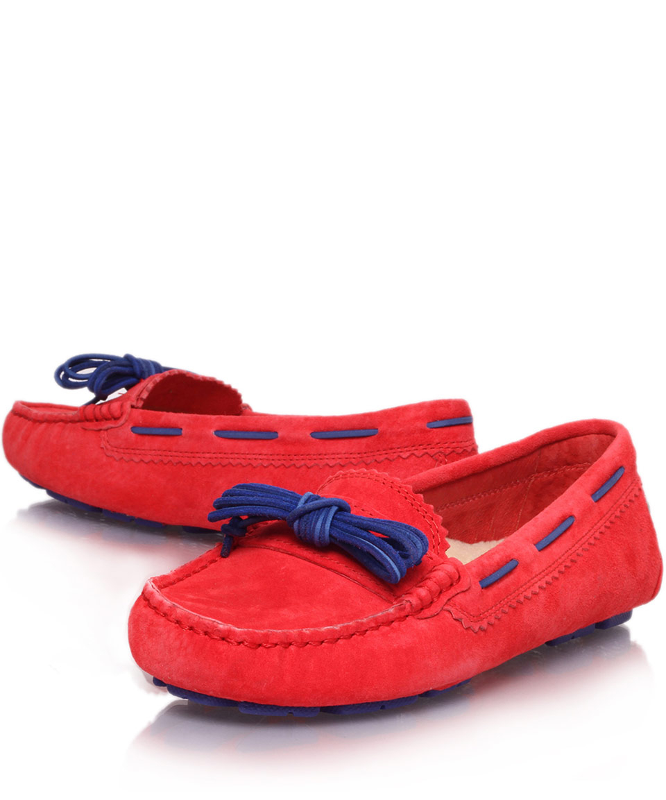 776b2a23ea4 UGG Red Meena Suede Loafers