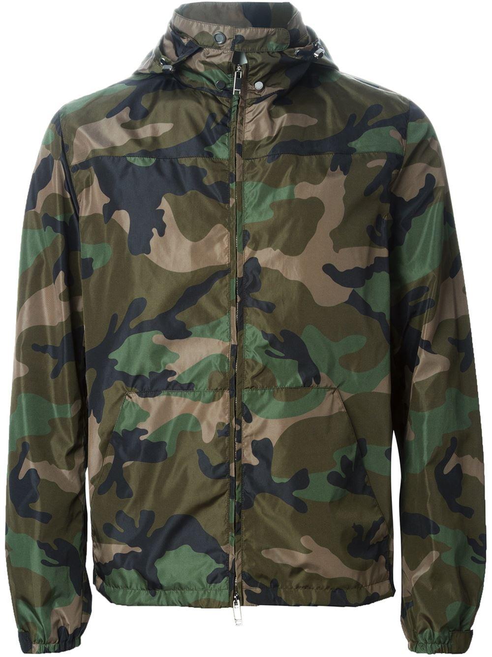 valentino camouflage jacket in green for men lyst. Black Bedroom Furniture Sets. Home Design Ideas