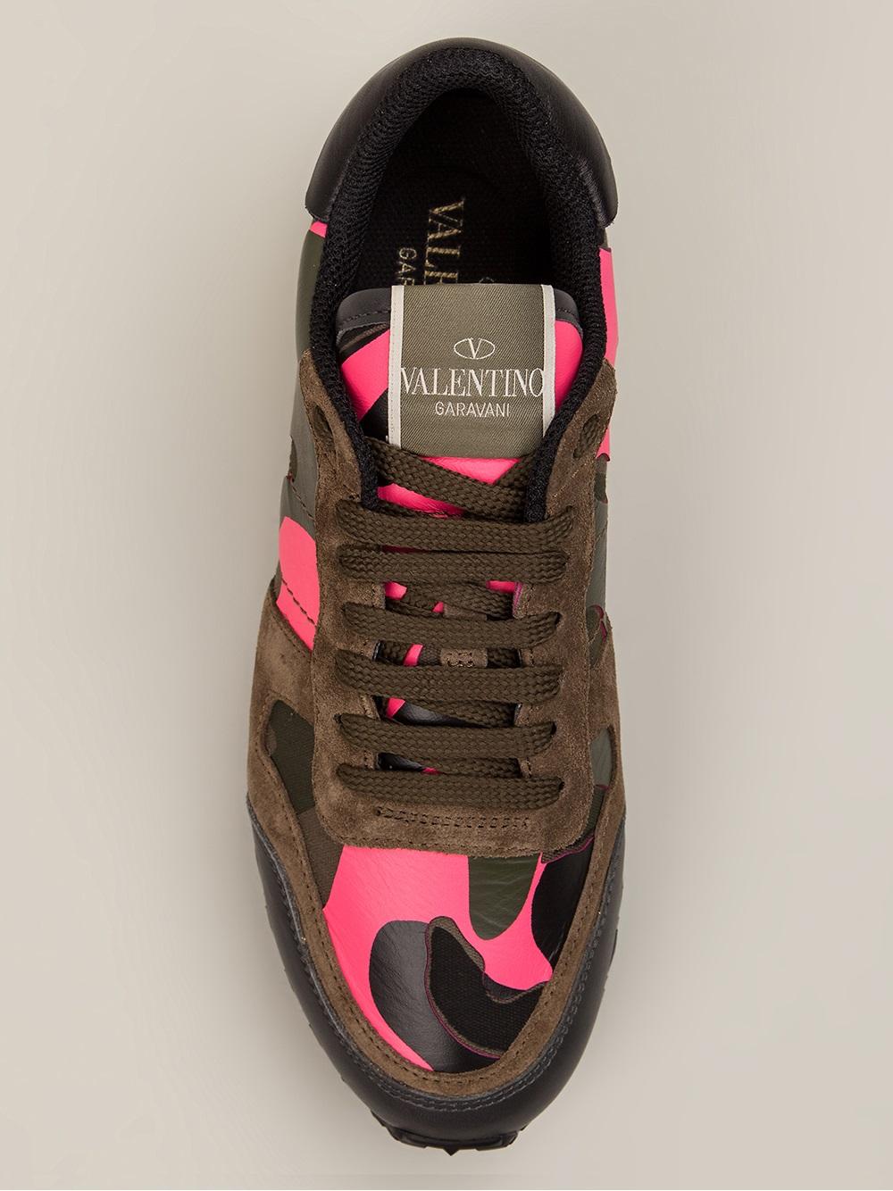 Lyst Valentino Rockstud Sneaker In Pink
