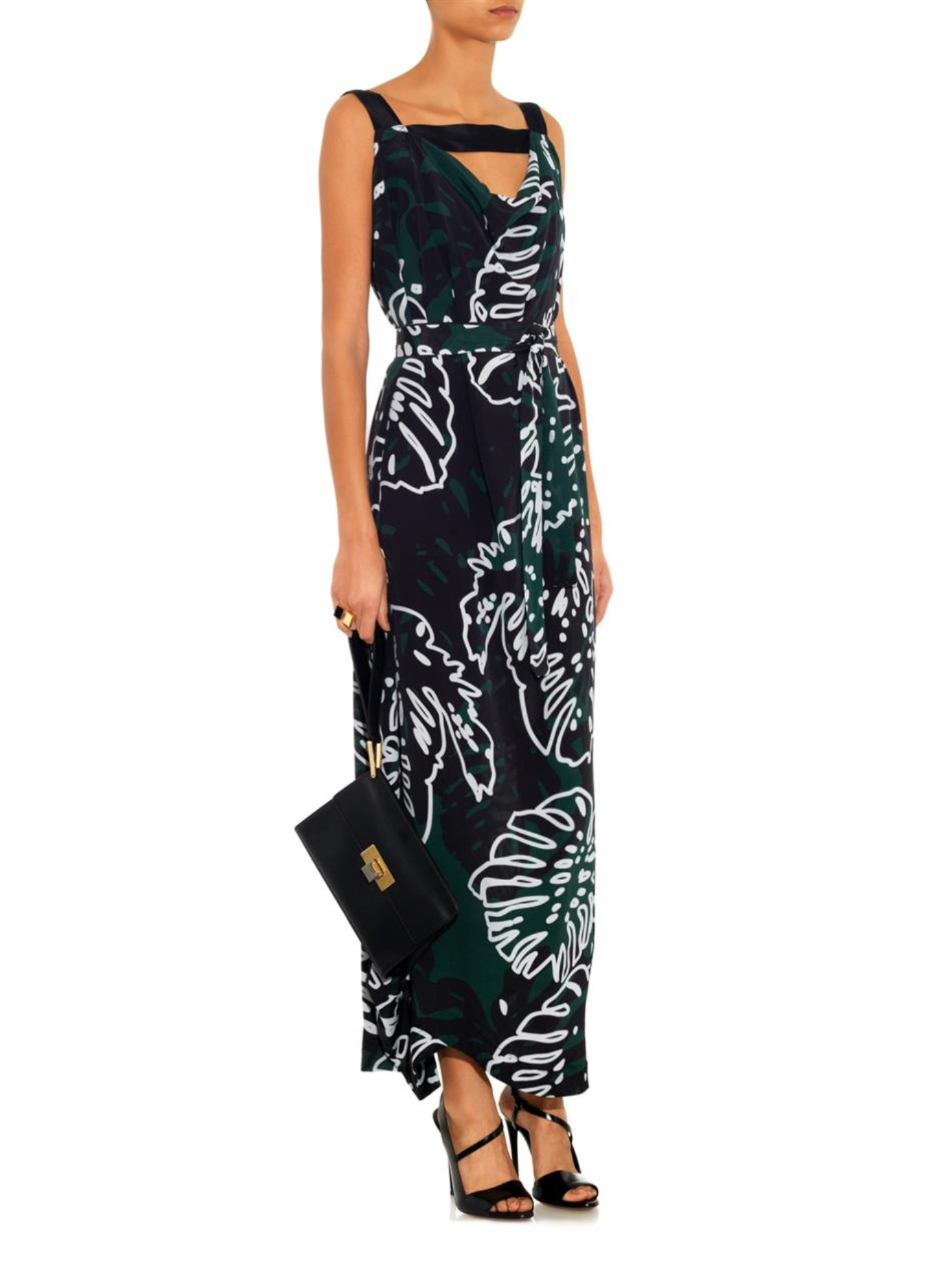 Lyst - Vivienne Westwood Anglomania Tigris Cheese Plant-Print Maxi ... 003d0c3e2
