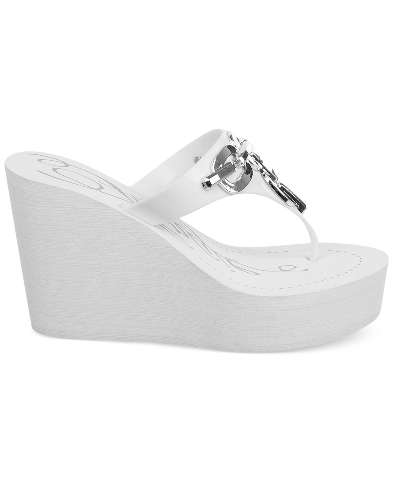 Lyst Fergie Easter Wedge Thong Sandals In White
