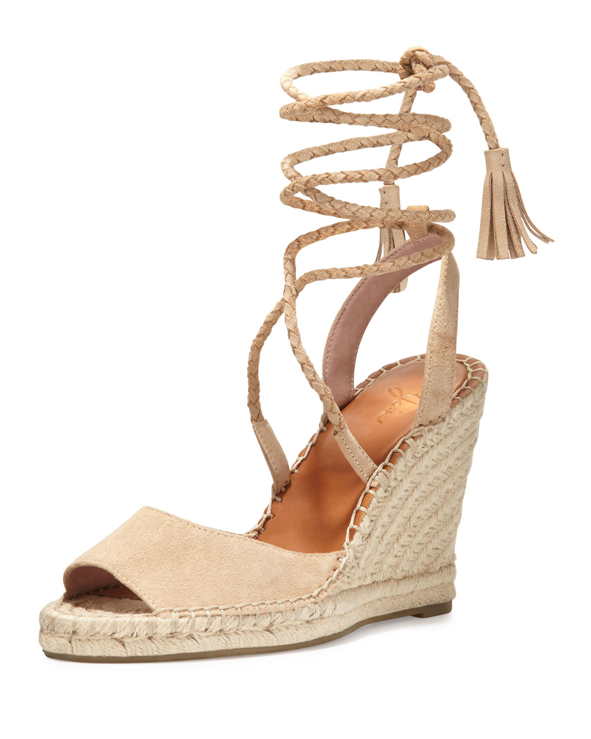 b2522934655 Lyst - Joie Phyllis Suede Wedge Espadrilles in Natural