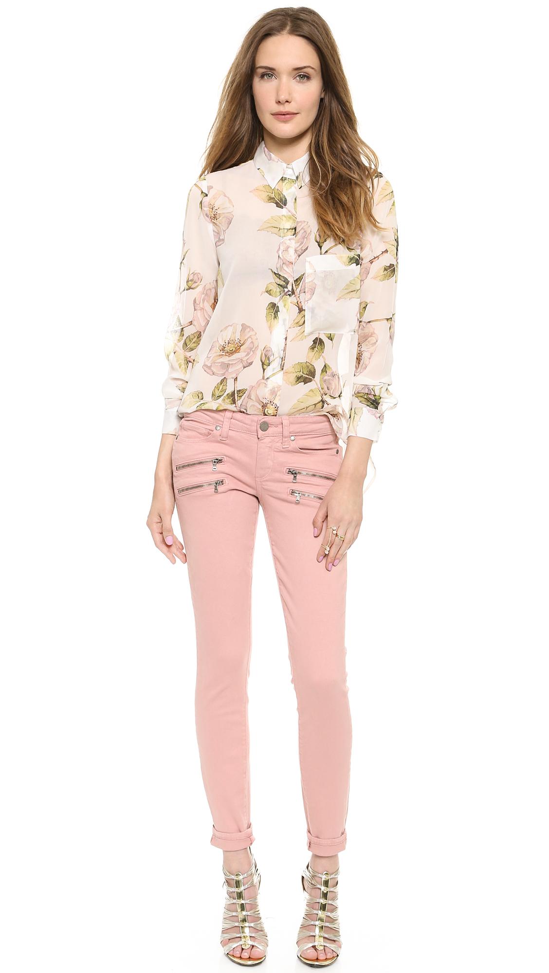PAIGE Edgemont Ultra Skinny Jeans Ballet Pink