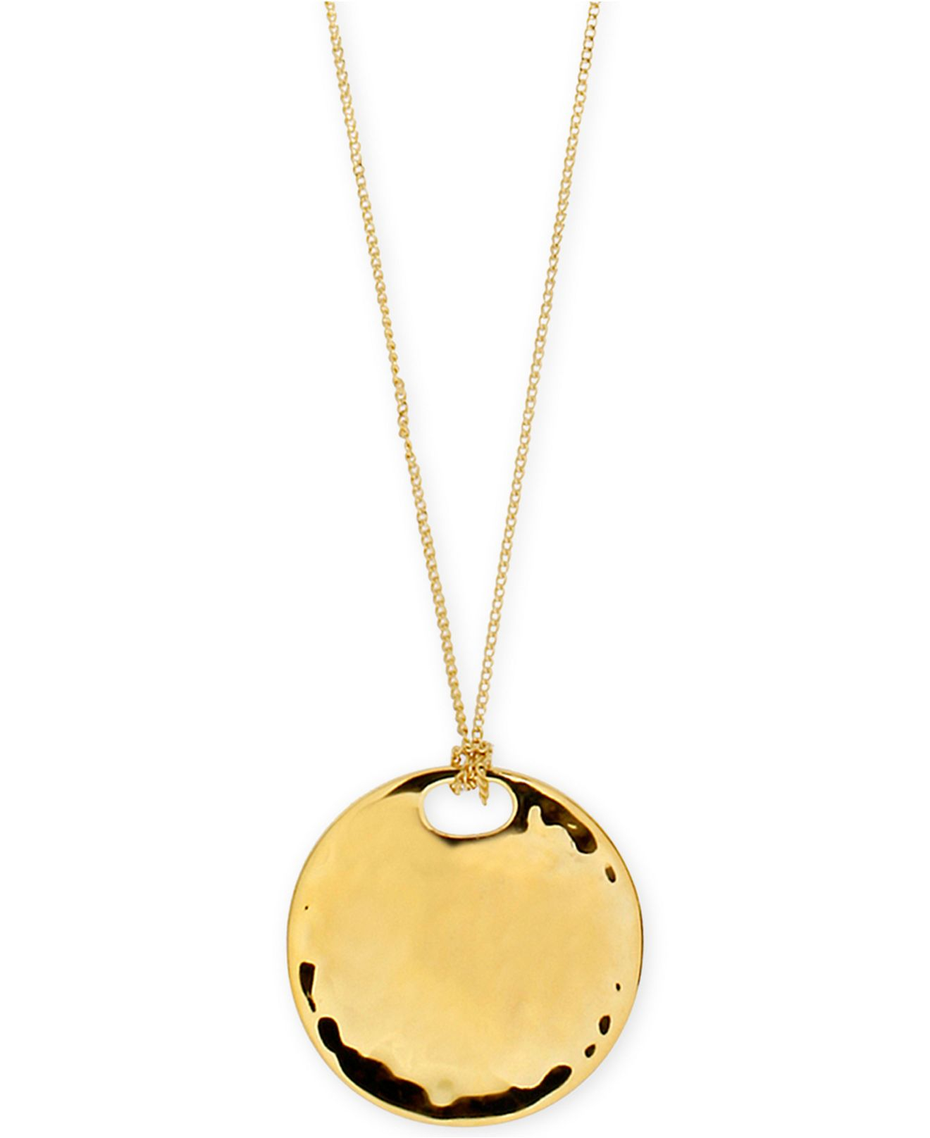 vogue gold disc gems hammered necklace in engraved products img solid coin