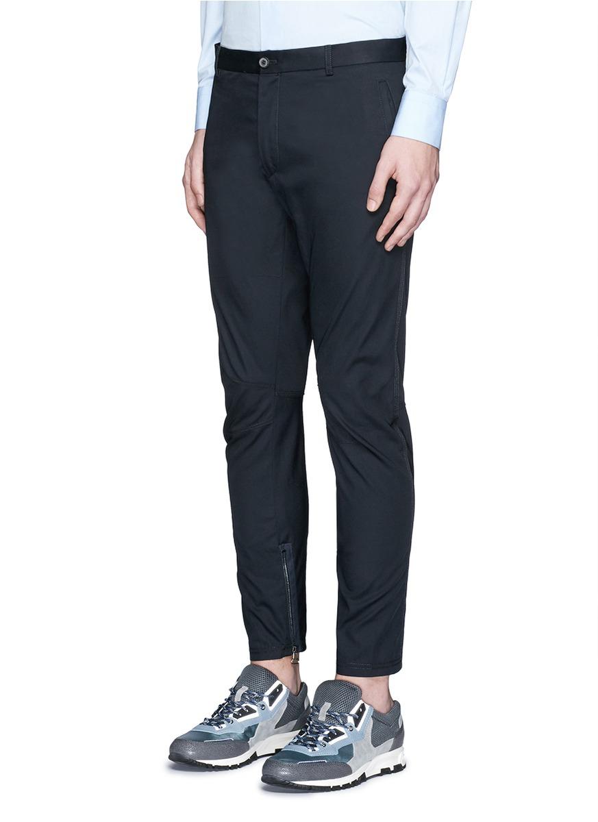 New Mens Gabardine Biker Trousers Lanvin Clearance Best Place Official Cheap Price Cheap Sale Brand New Unisex cmwJQm