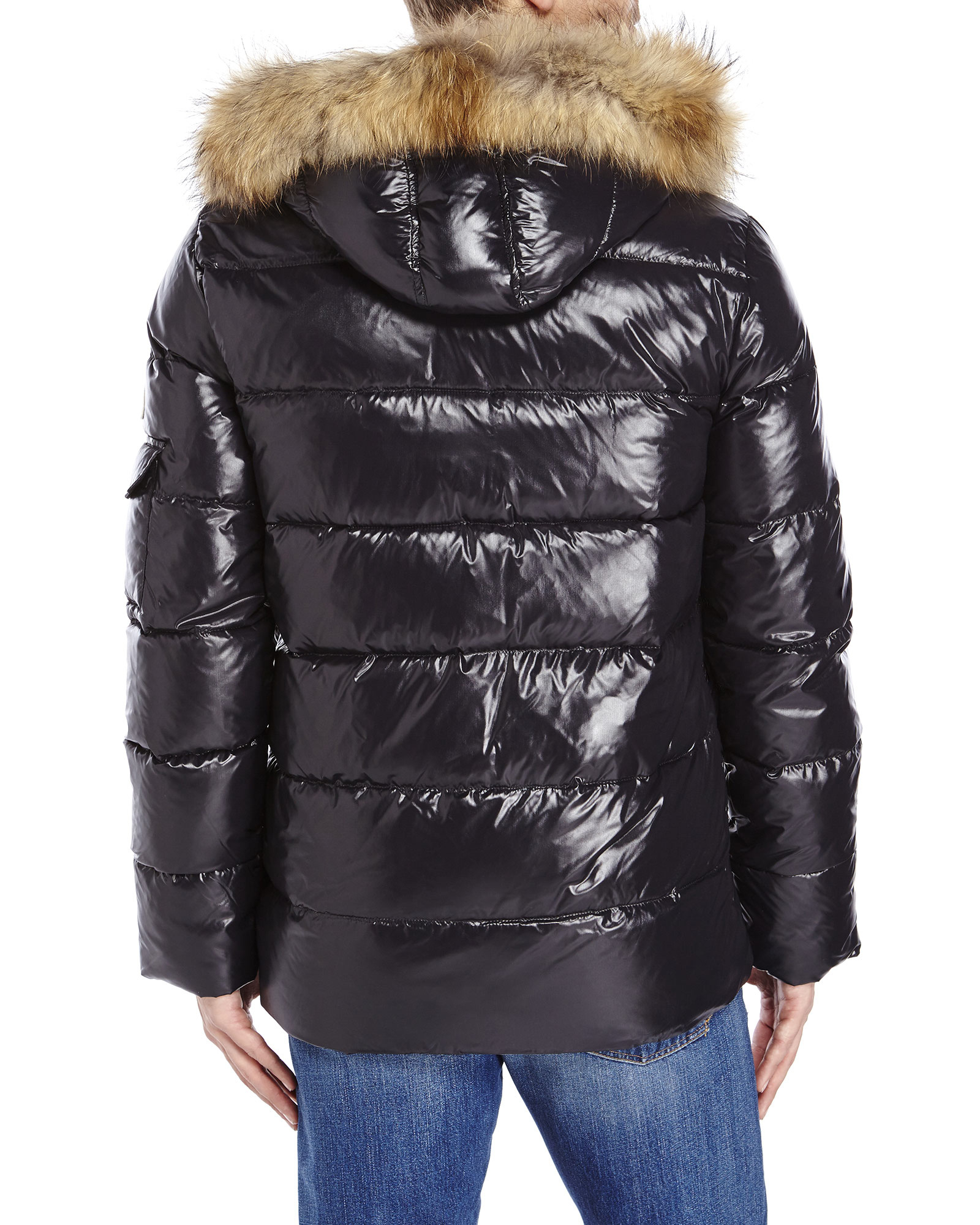 Lyst Pyrenex Authentic Shiny Genuine Fur Trim Down Coat
