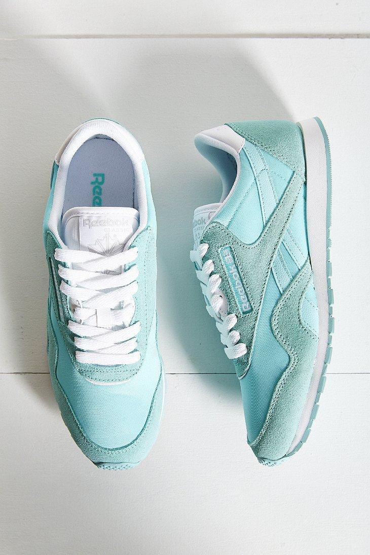 Lyst - Reebok Classic Slim Nylon Running Sneaker in Blue 25f9043f7