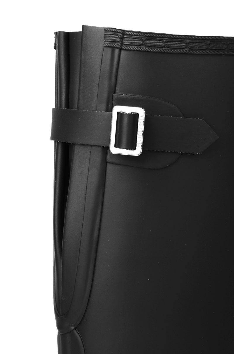 HUNTER Original Back Adjustable Tall Matte Rain Boots In Black