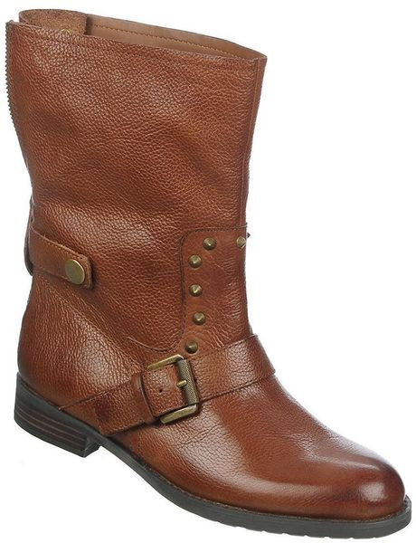 franco sarto privy leather boots in brown cognac lyst