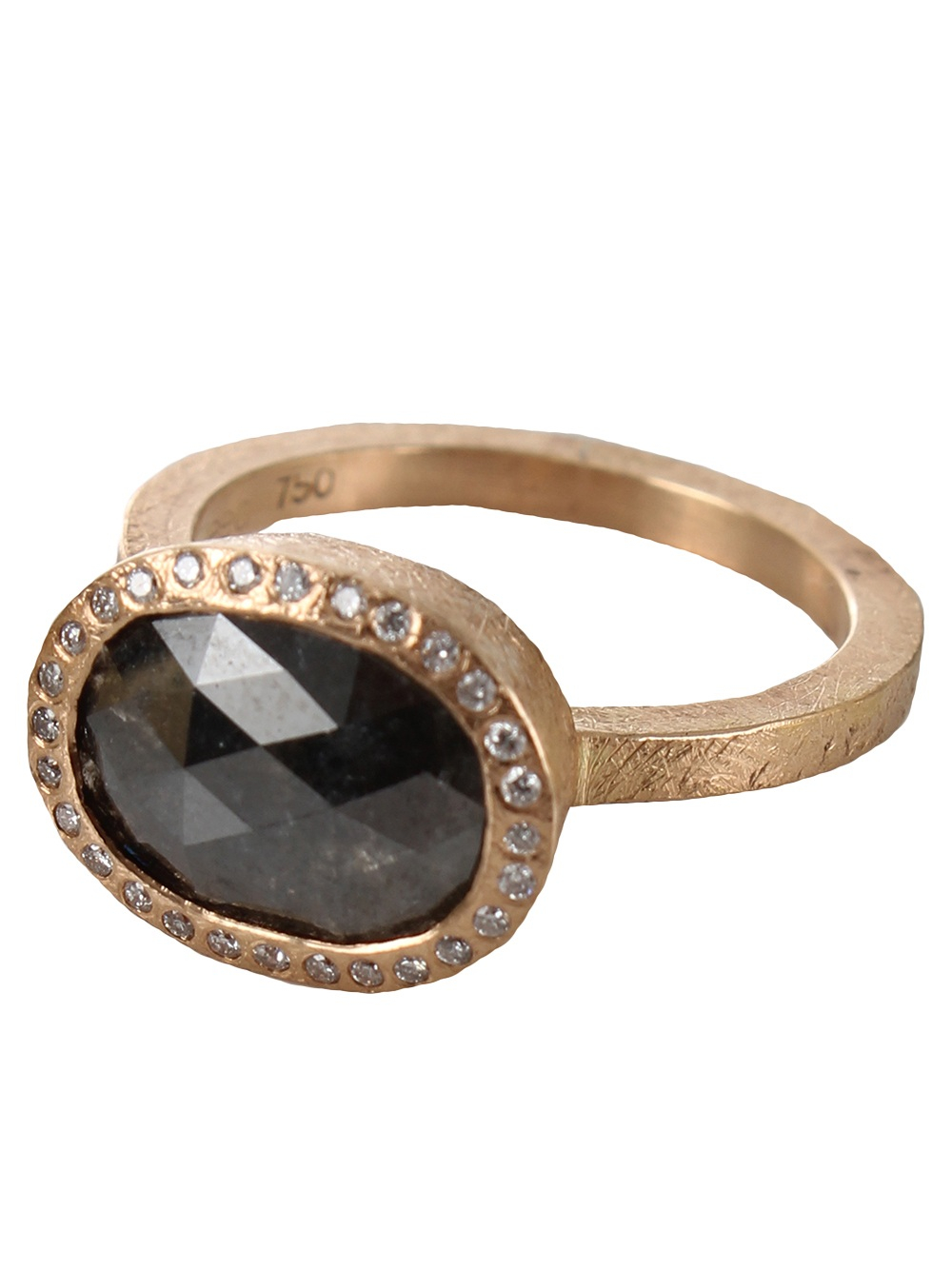Todd reed 39 fancy 39 diamond ring in gray lyst for Todd reed