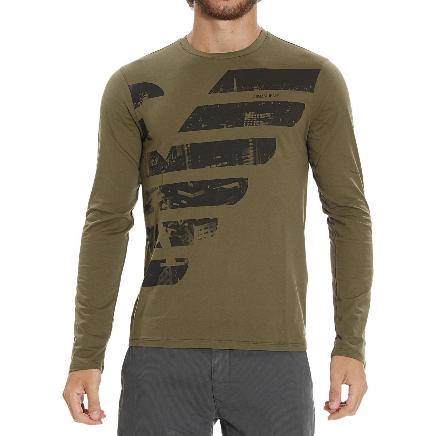 giorgio armani t shirt in green for men lyst. Black Bedroom Furniture Sets. Home Design Ideas