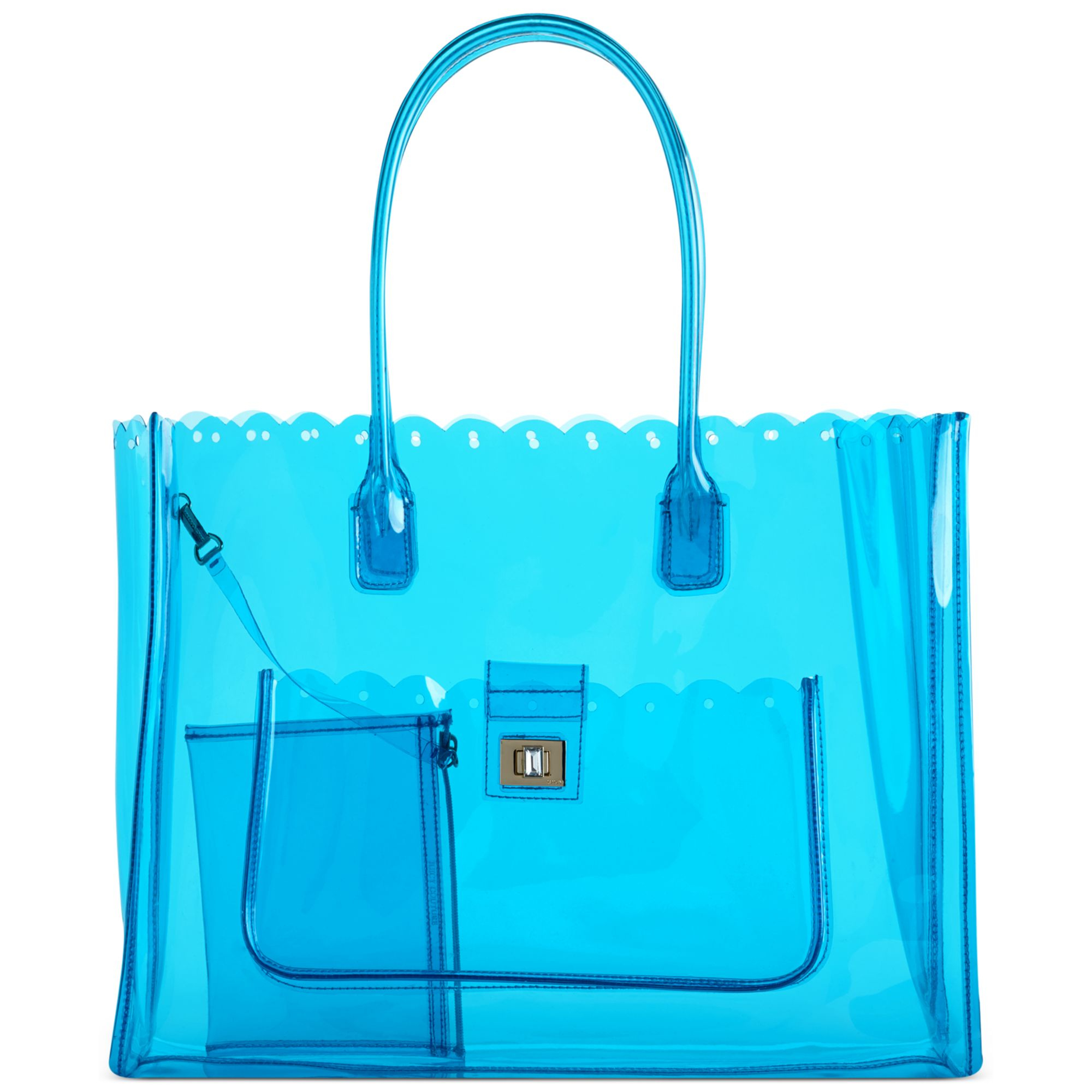 Juicy couture Silverlake Clear Beach Tote in Blue | Lyst