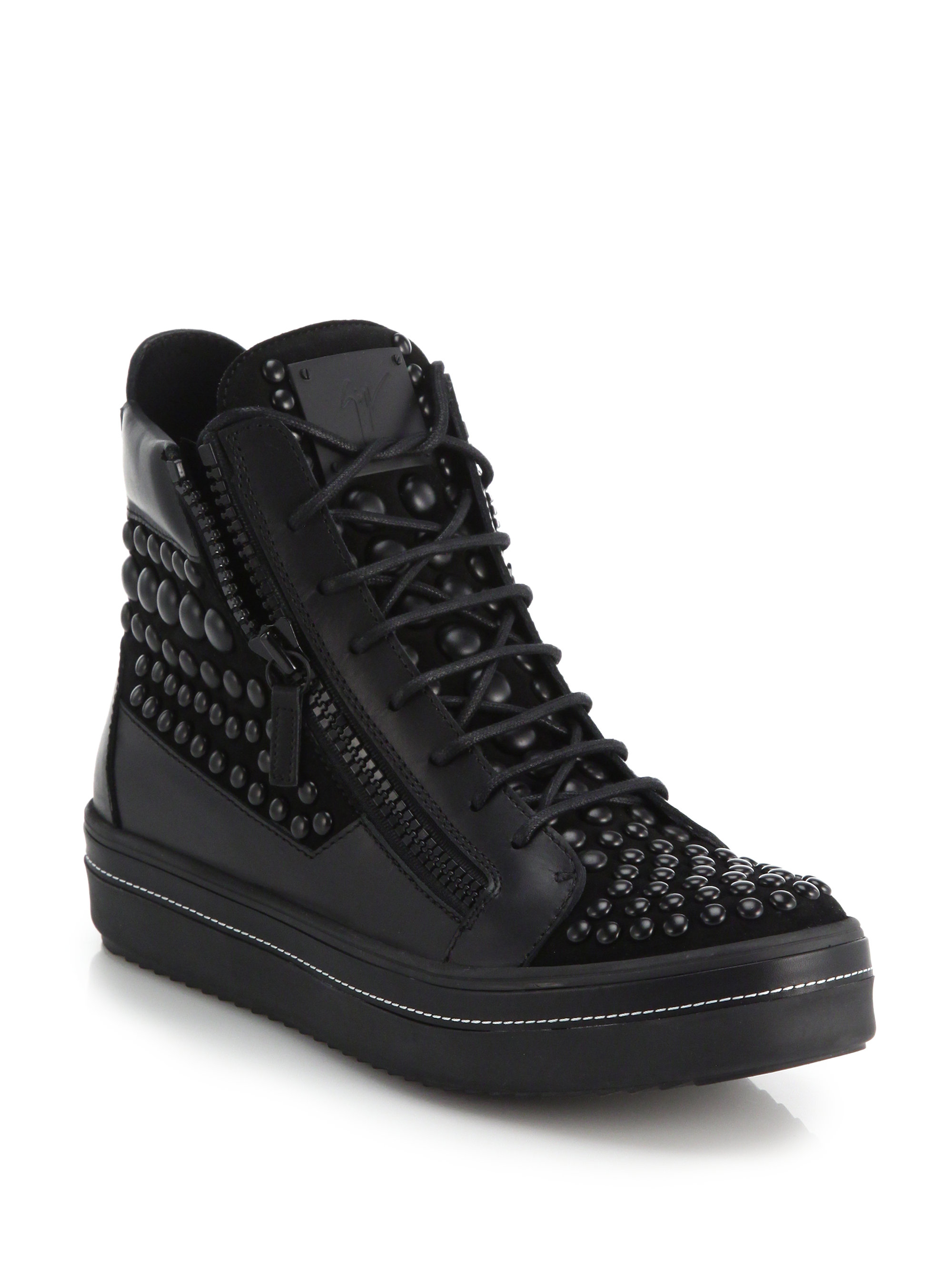 Black Studded May London High-Top Sneakers Giuseppe Zanotti AX8Sg39