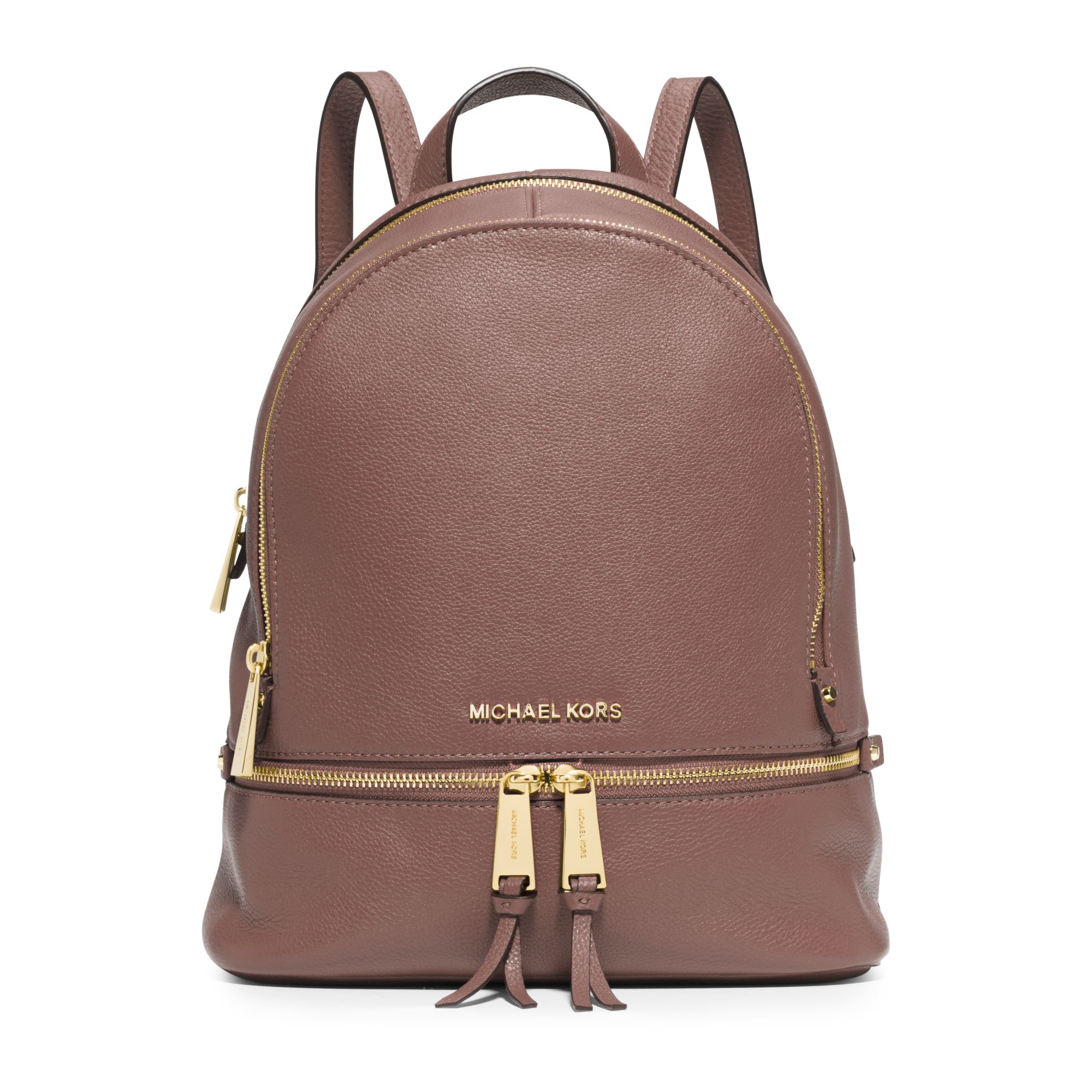 michael kors rhea small leather backpack in brown dusty rose lyst. Black Bedroom Furniture Sets. Home Design Ideas
