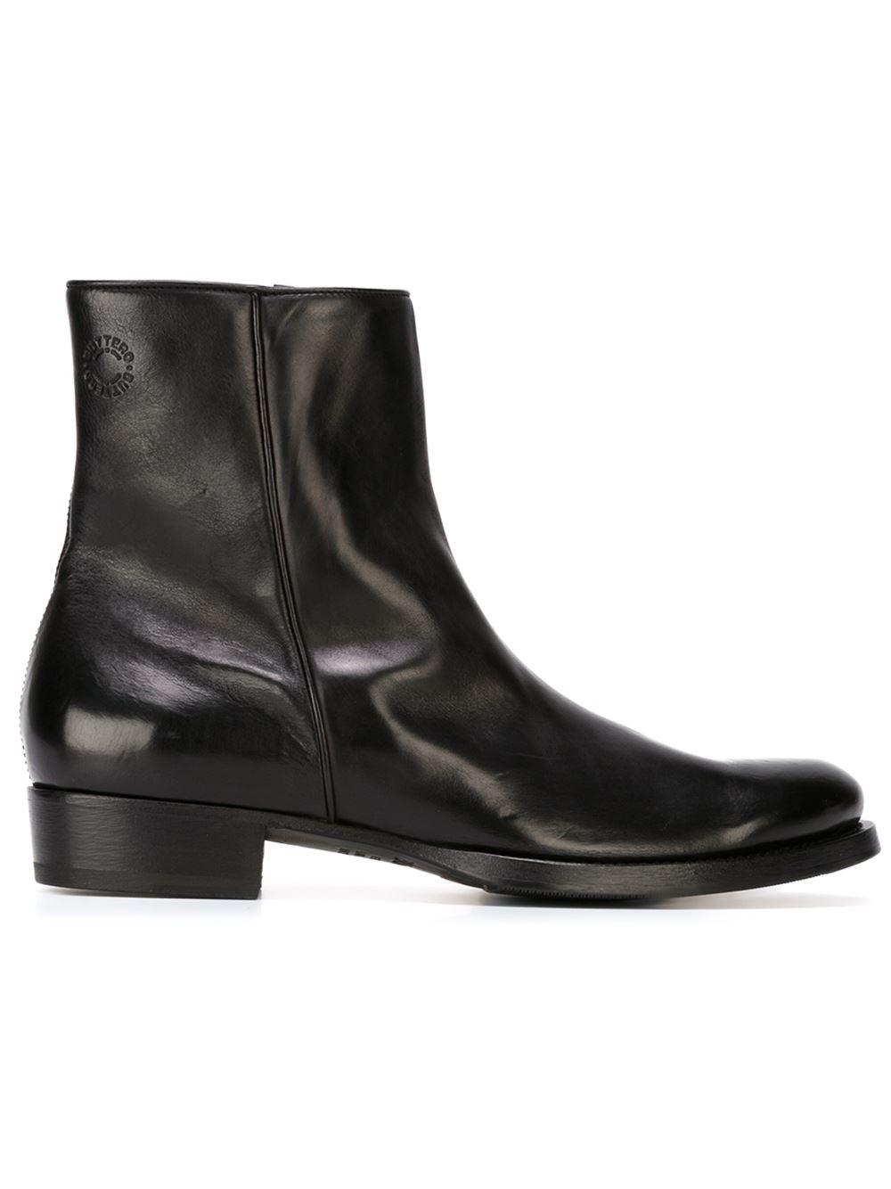 Buttero Side Zip Ankle Boots In Black For Men Lyst