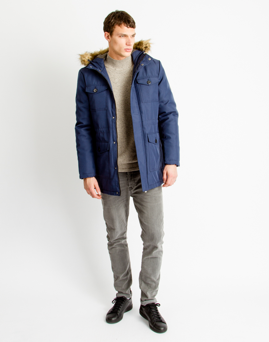 92248b659a Only & Sons Mens Parka Coat Blue in Blue for Men - Lyst