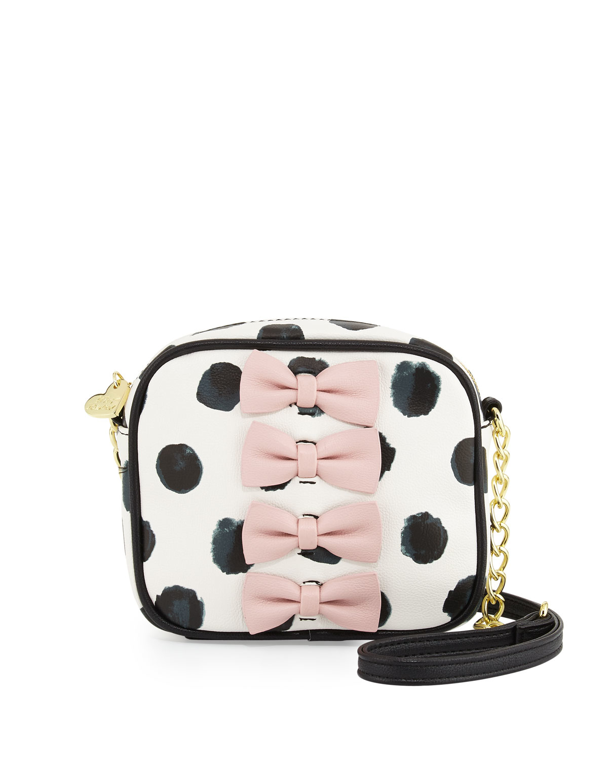 747176556d Lyst - Betsey Johnson Petite Chic Bow Camera Crossbody Bag in Black