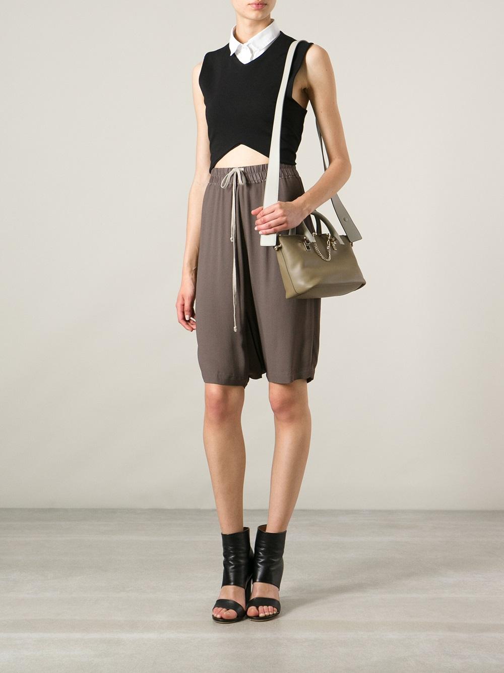 Chlo¨¦ Mini Baylee Shoulder Bag in Green | Lyst